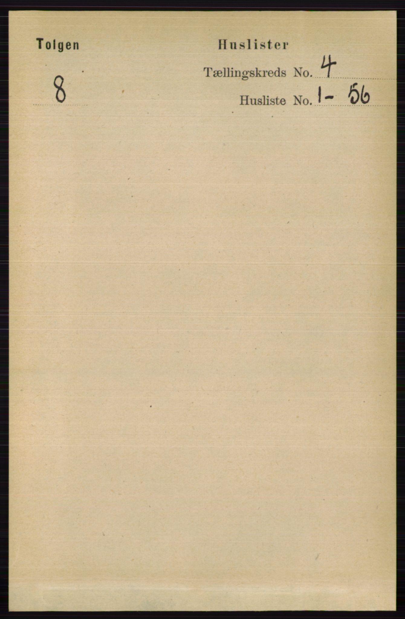 RA, Folketelling 1891 for 0436 Tolga herred, 1891, s. 814