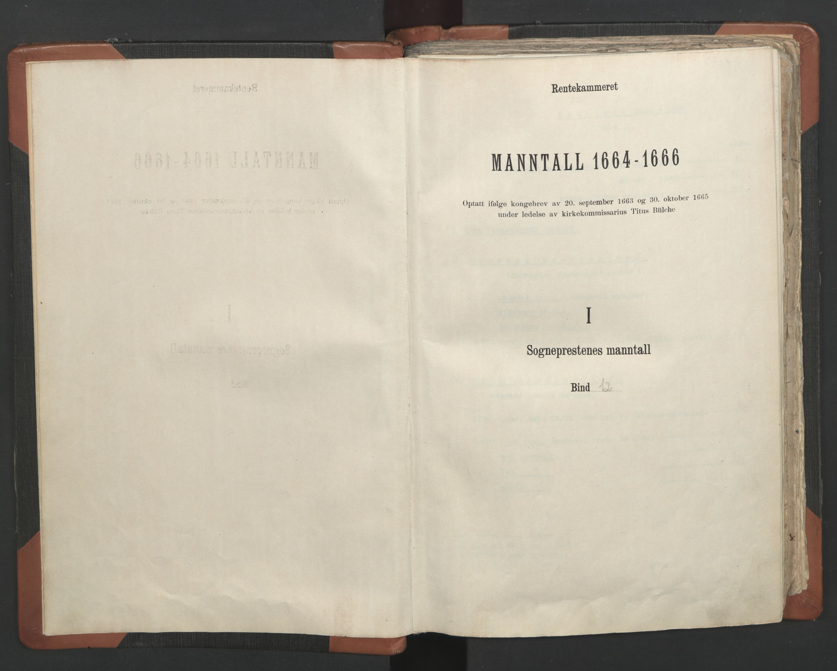 RA, Sogneprestenes manntall 1664-1666, nr. 12: Øvre Telemark prosti, Nedre Telemark prosti og Bamble prosti, 1664-1666, s. upaginert