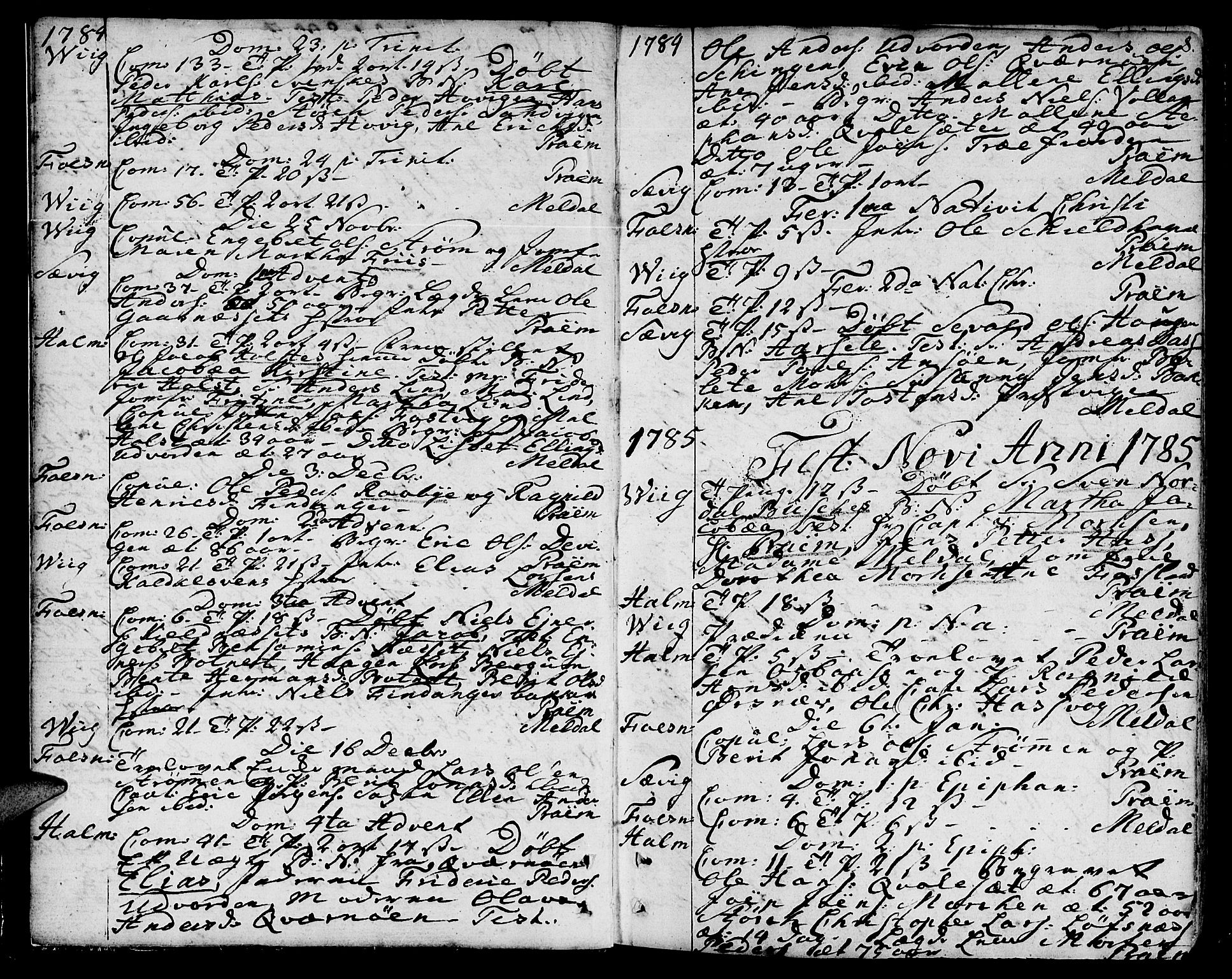 SAT, Ministerialprotokoller, klokkerbøker og fødselsregistre - Nord-Trøndelag, 773/L0608: Ministerialbok nr. 773A02, 1784-1816, s. 8