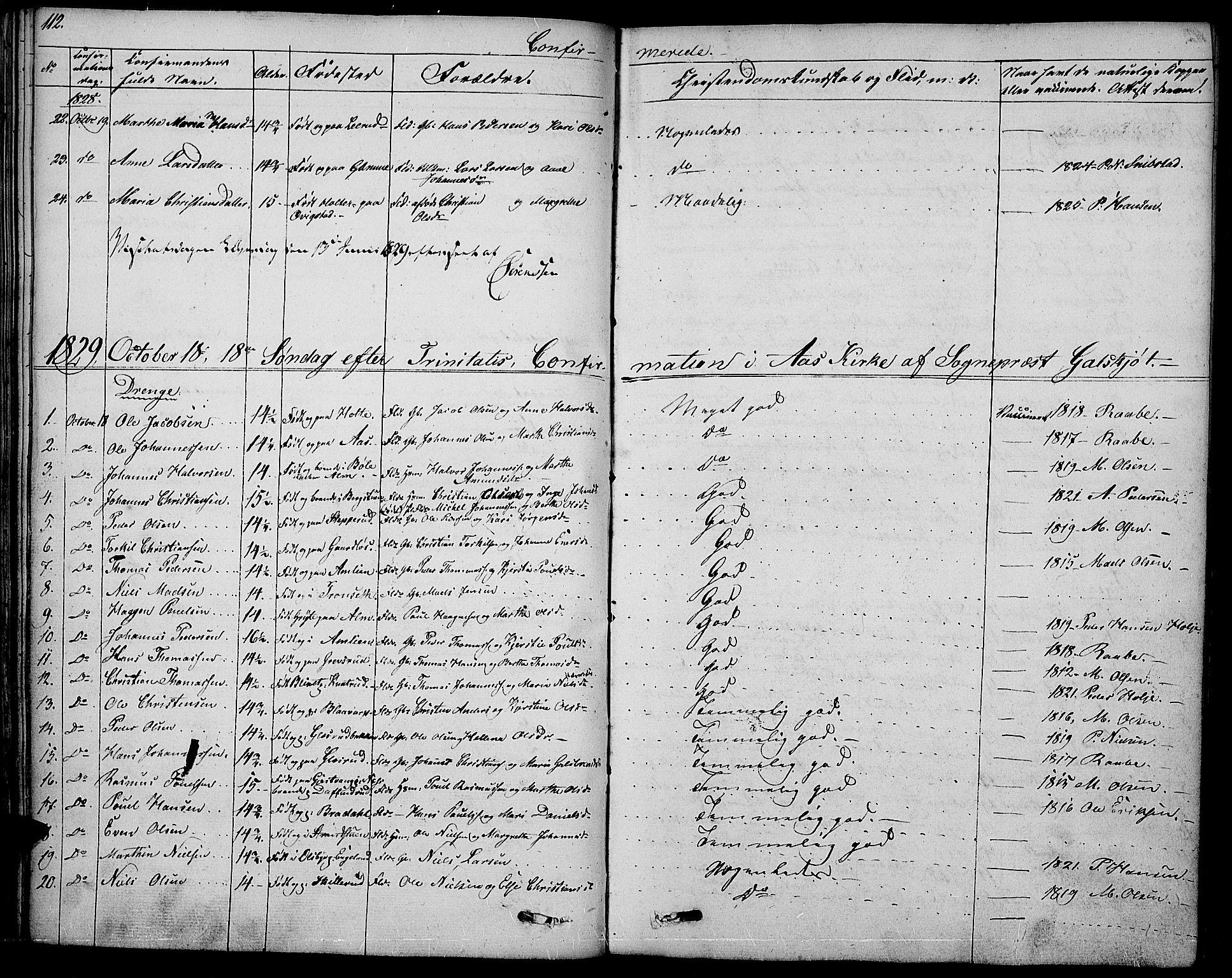 SAH, Vestre Toten prestekontor, Ministerialbok nr. 2, 1825-1837, s. 112