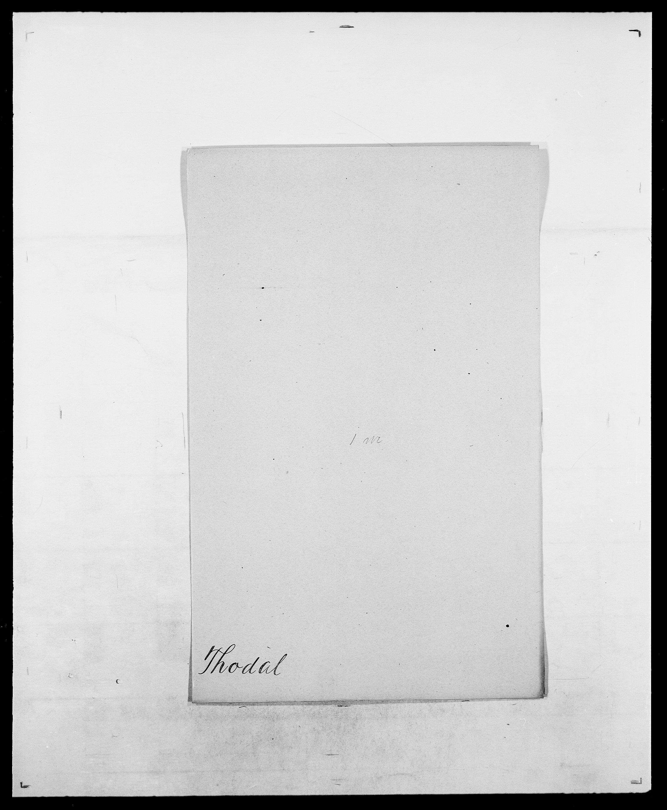 SAO, Delgobe, Charles Antoine - samling, D/Da/L0038: Svanenskjold - Thornsohn, s. 744