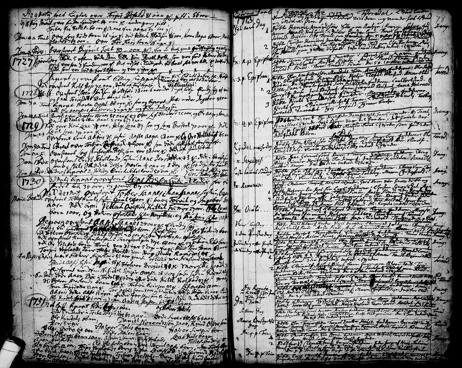 SAKO, Drangedal kirkebøker, F/Fa/L0001: Ministerialbok nr. 1, 1697-1767, s. 78