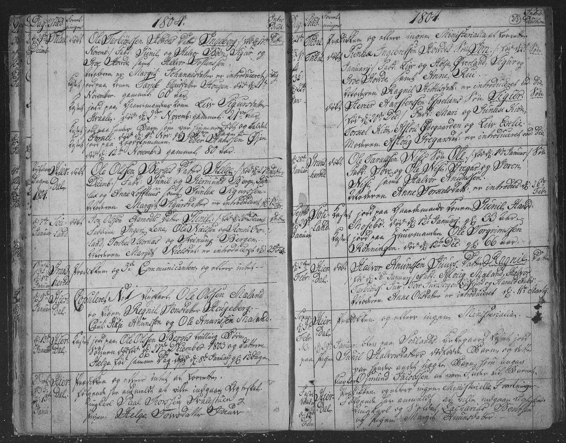 SAKO, Hjartdal kirkebøker, F/Fa/L0006: Ministerialbok nr. I 6, 1801-1814, s. 23