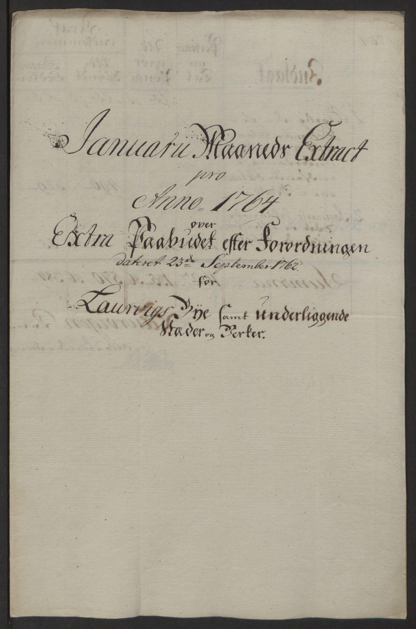 RA, Rentekammeret inntil 1814, Reviderte regnskaper, Byregnskaper, R/Ri/L0183: [I4] Kontribusjonsregnskap, 1762-1768, s. 178