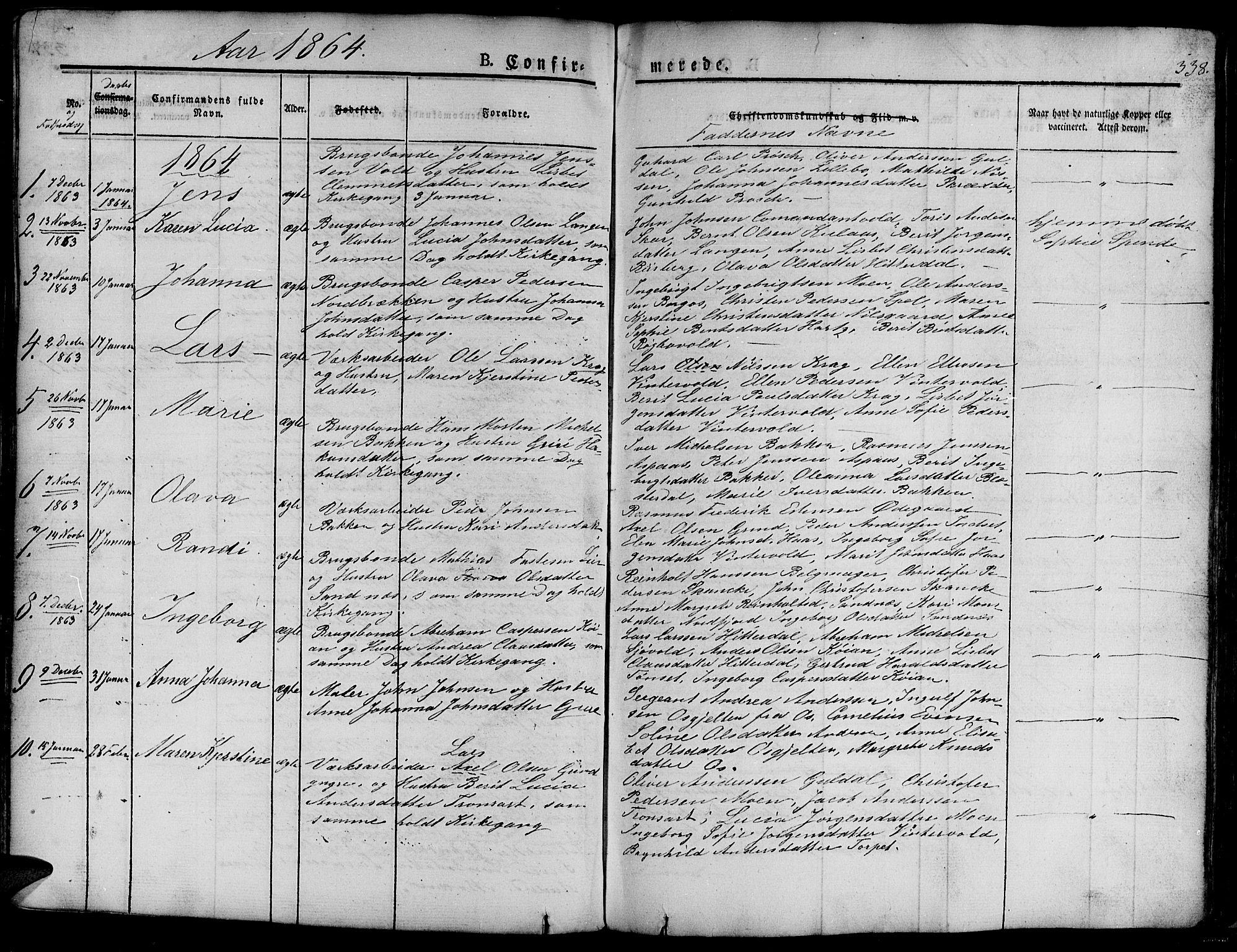 SAT, Ministerialprotokoller, klokkerbøker og fødselsregistre - Sør-Trøndelag, 681/L0938: Klokkerbok nr. 681C02, 1829-1879, s. 338