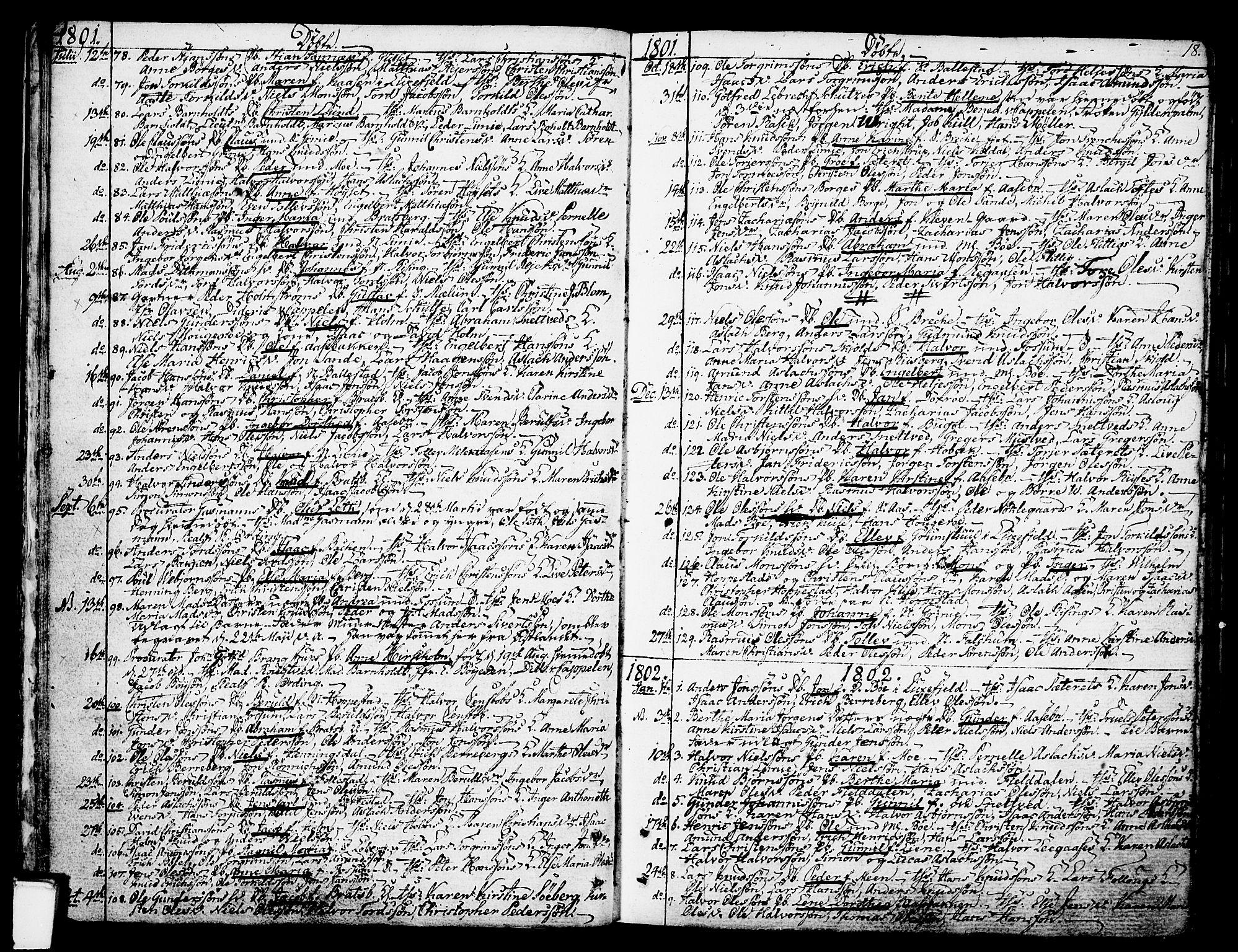 SAKO, Gjerpen kirkebøker, F/Fa/L0003: Ministerialbok nr. 3, 1796-1814, s. 18