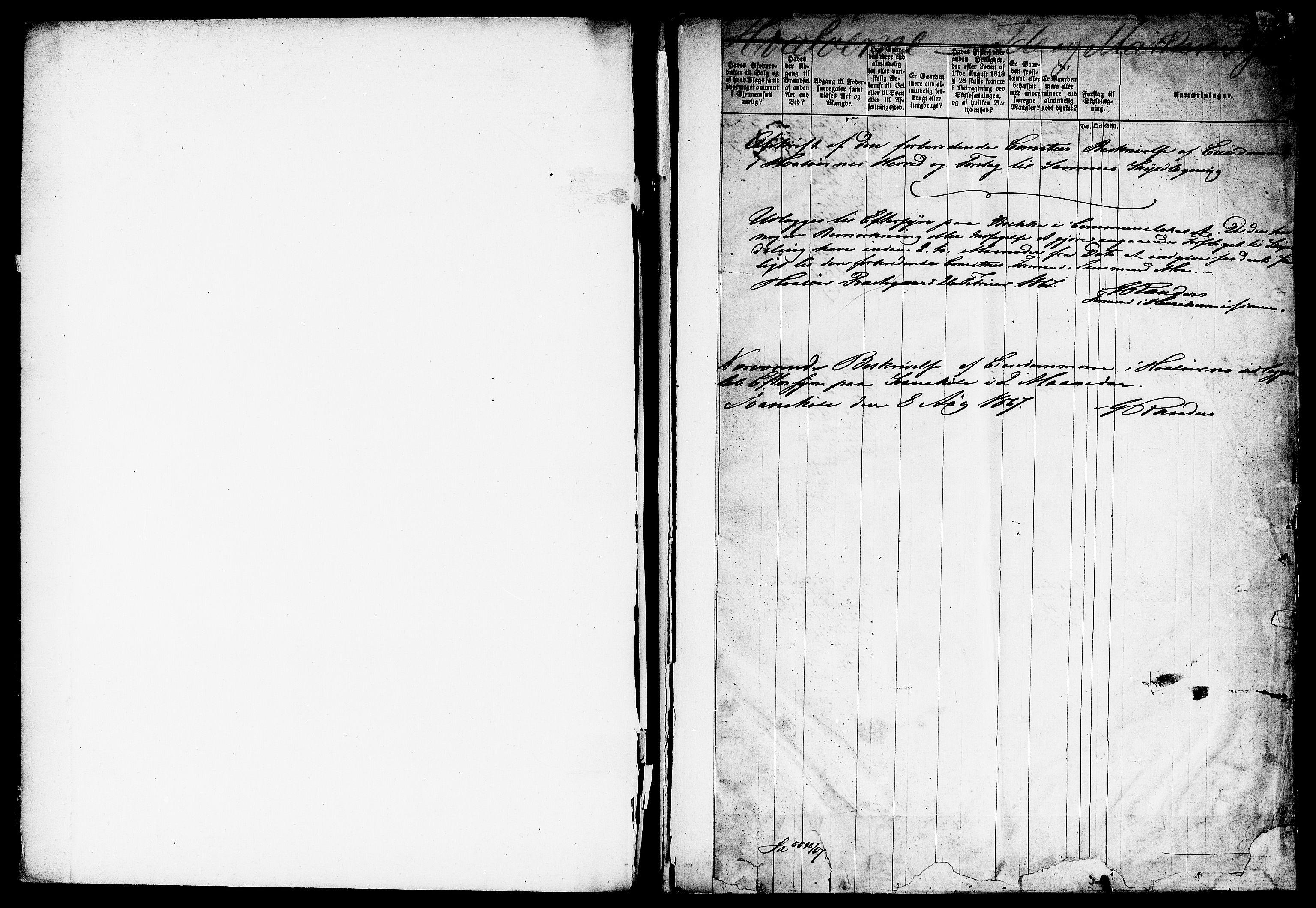 RA, Matrikkelrevisjonen av 1863, F/Fe/L0012: Hvaler, 1863