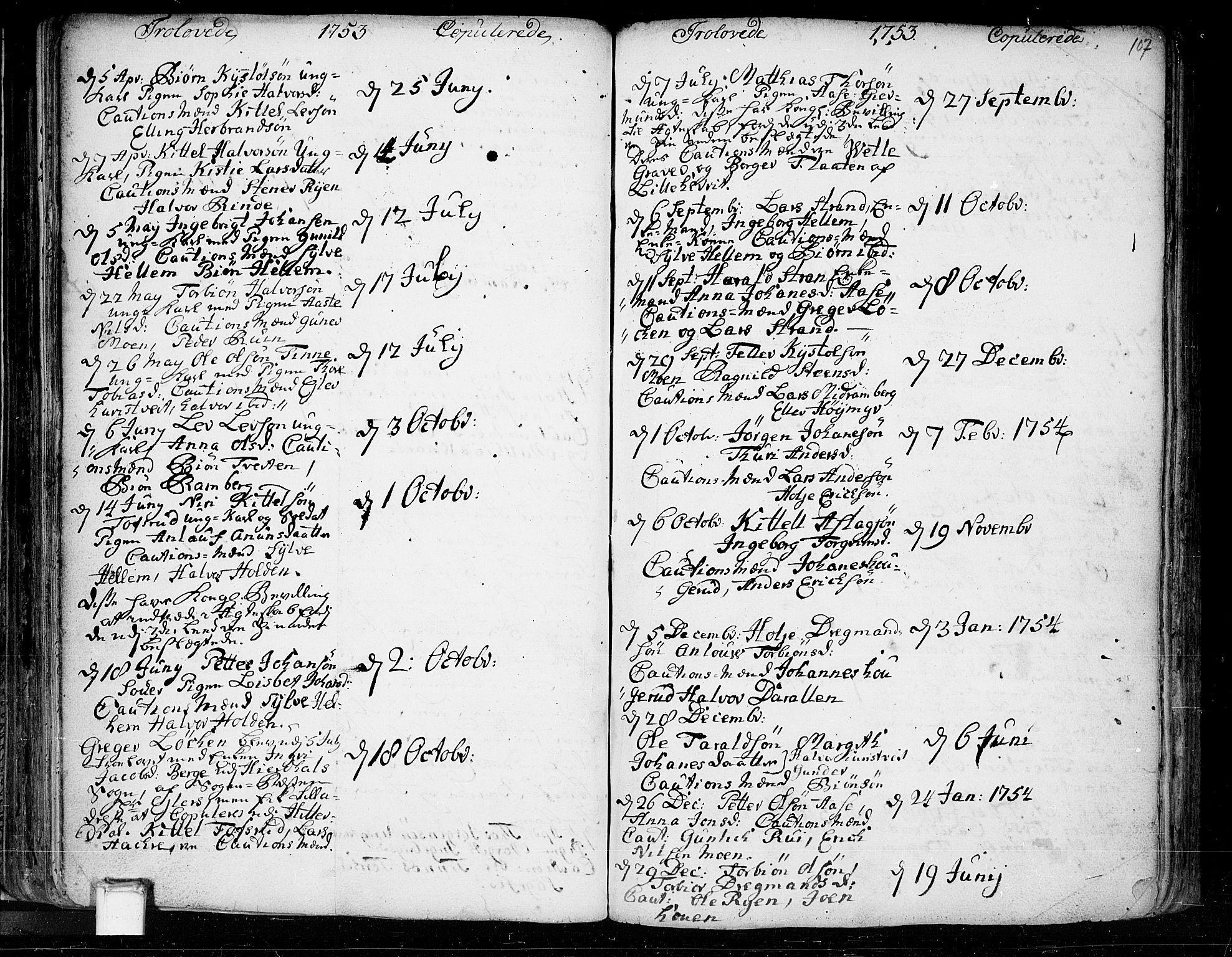 SAKO, Heddal kirkebøker, F/Fa/L0003: Ministerialbok nr. I 3, 1723-1783, s. 107