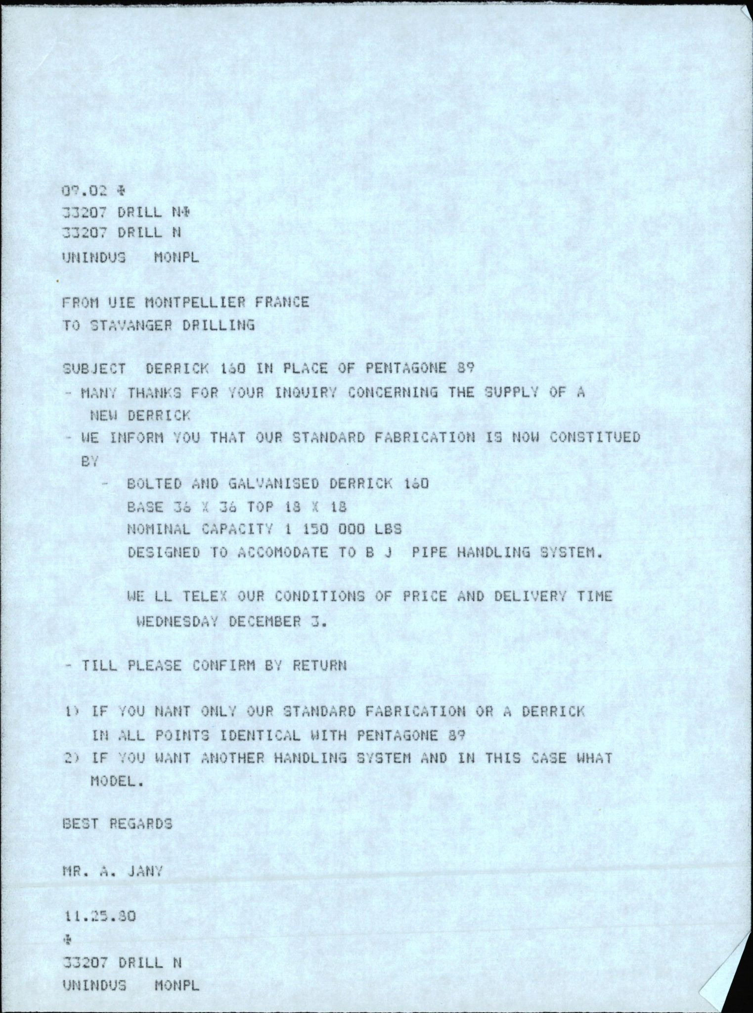 SAST, Pa 1503 - Stavanger Drilling AS, E/Eb/Eba/L0018: Alexander L. Kielland repair, 1976-1981