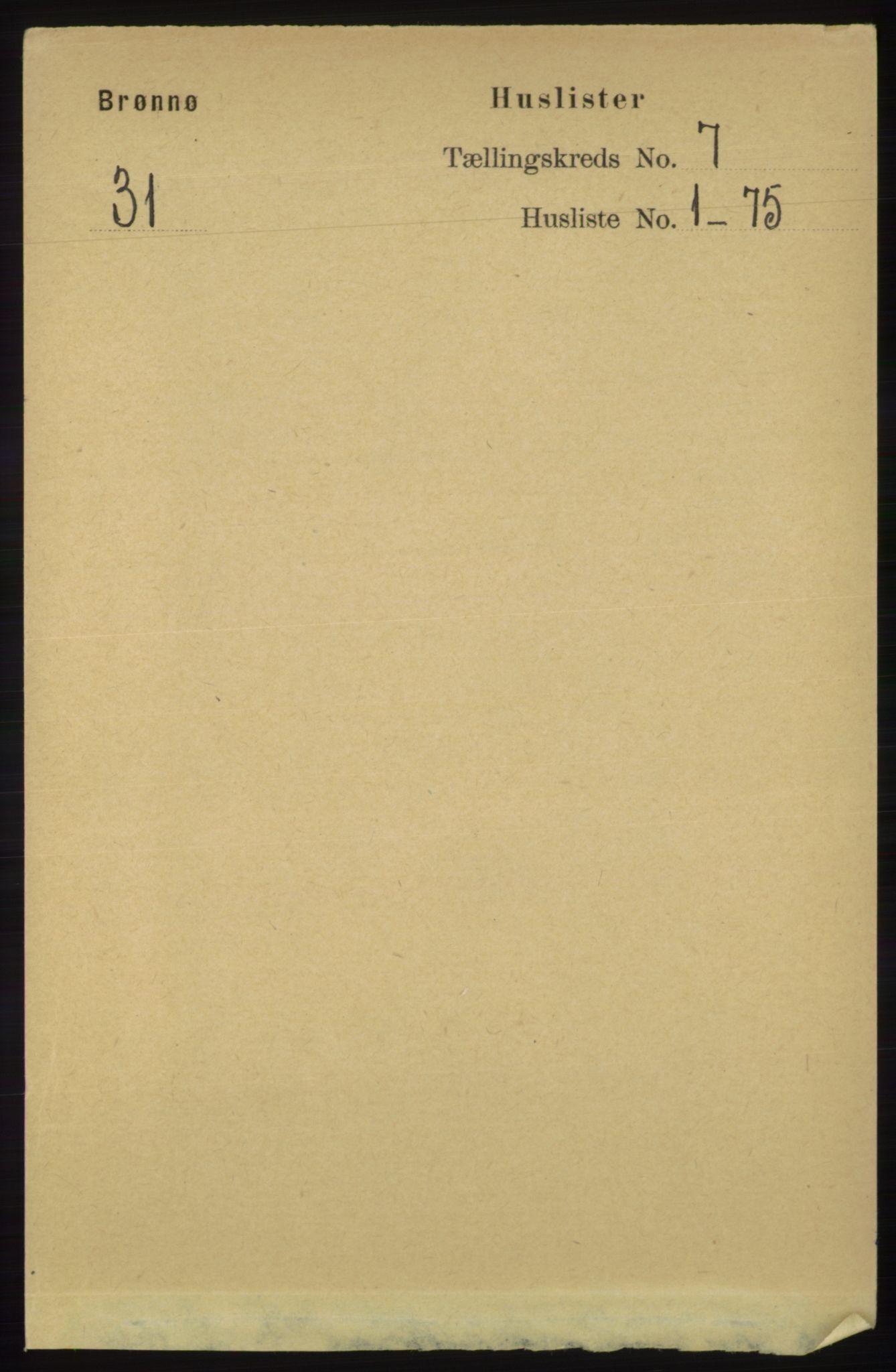 RA, Folketelling 1891 for 1814 Brønnøy herred, 1891, s. 3674