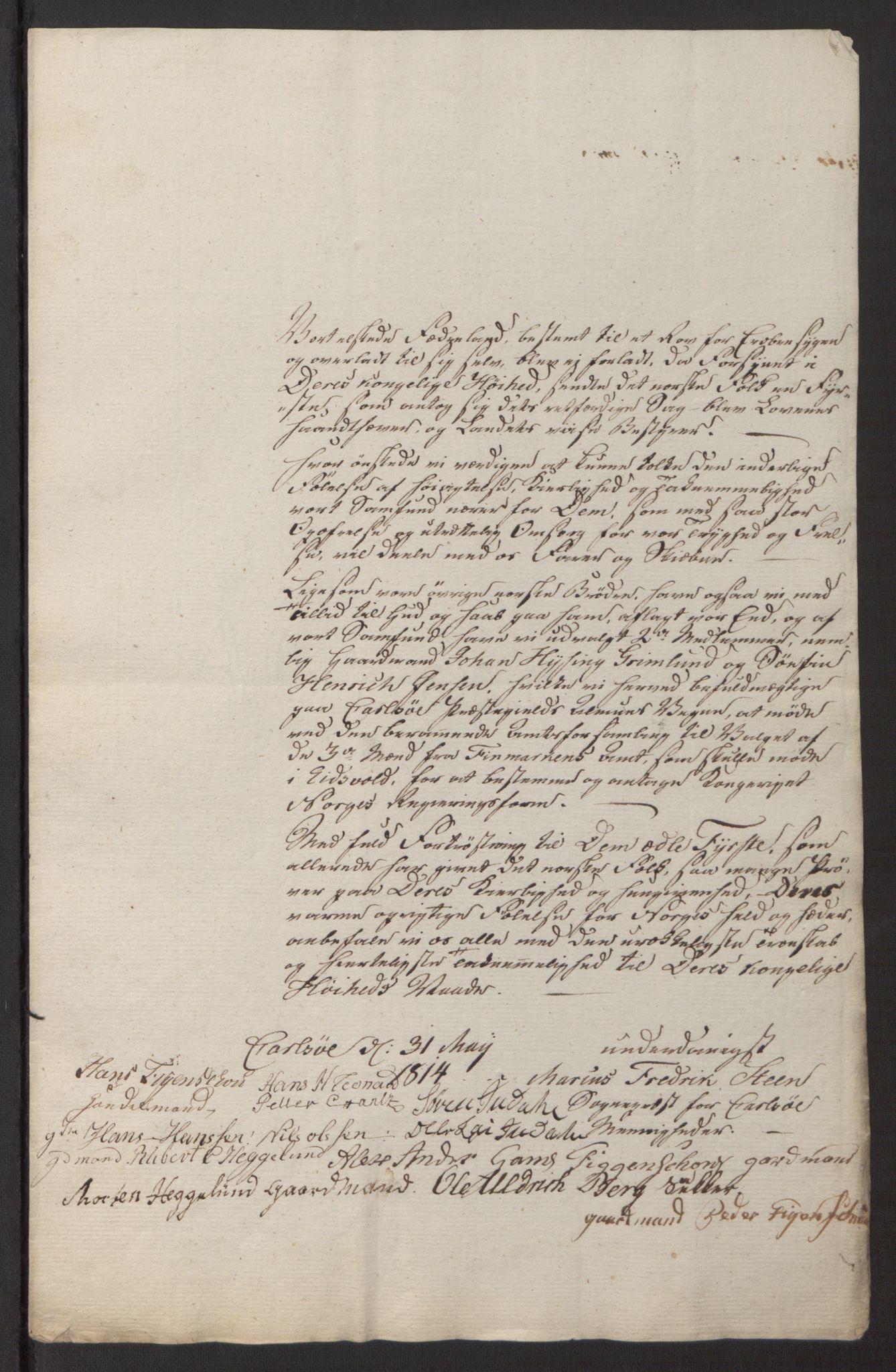 SATØ, Amtmannen/Fylkesmannen i Finnmark*, 1814, s. 18