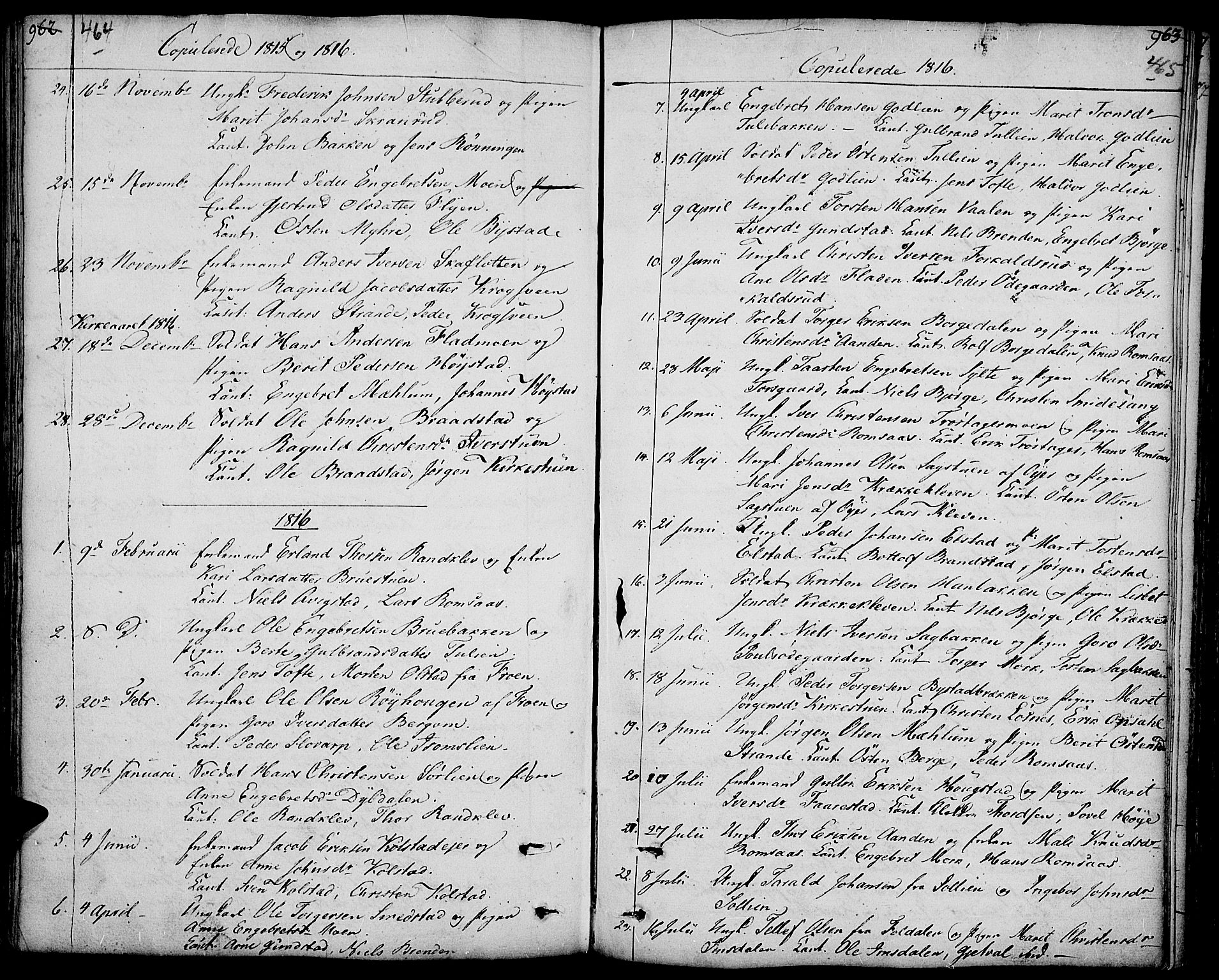 SAH, Ringebu prestekontor, Ministerialbok nr. 3, 1781-1820, s. 464-465