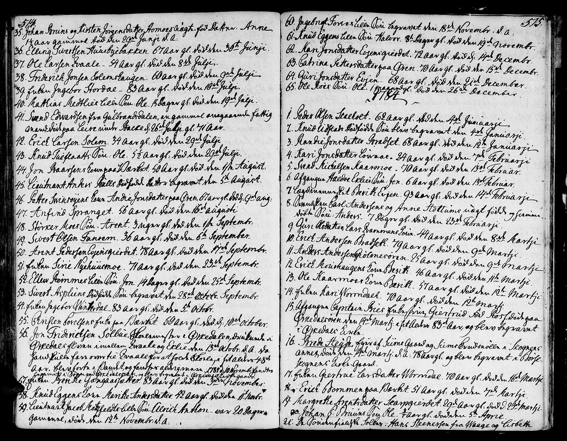 SAT, Ministerialprotokoller, klokkerbøker og fødselsregistre - Sør-Trøndelag, 668/L0802: Ministerialbok nr. 668A02, 1776-1799, s. 514-515
