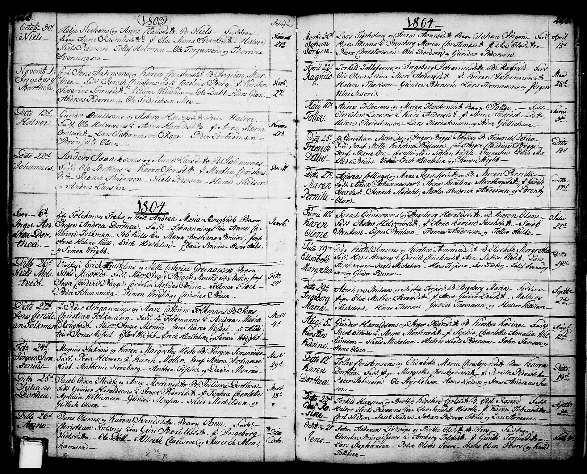 SAKO, Porsgrunn kirkebøker , F/Fa/L0001: Ministerialbok nr. 1, 1764-1814, s. 226-227