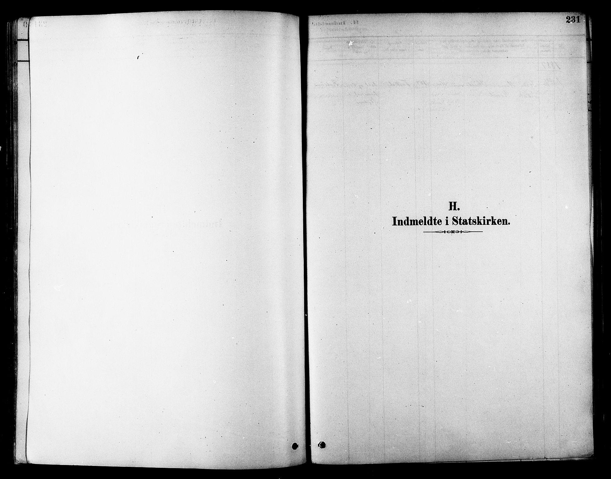 SATØ, Skjervøy sokneprestkontor, H/Ha/Haa/L0009kirke: Ministerialbok nr. 9, 1878-1887, s. 231