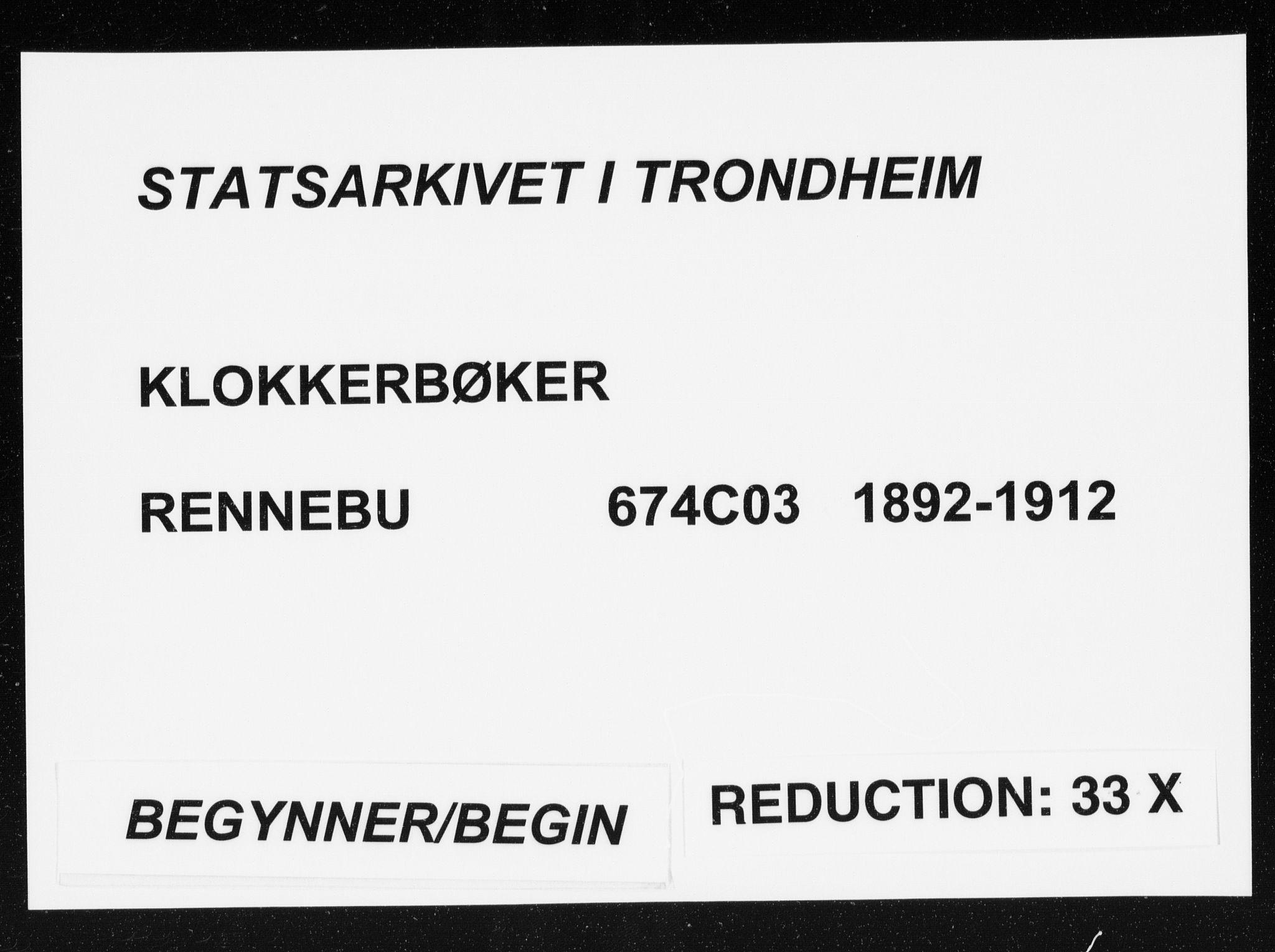 SAT, Ministerialprotokoller, klokkerbøker og fødselsregistre - Sør-Trøndelag, 674/L0876: Klokkerbok nr. 674C03, 1892-1912