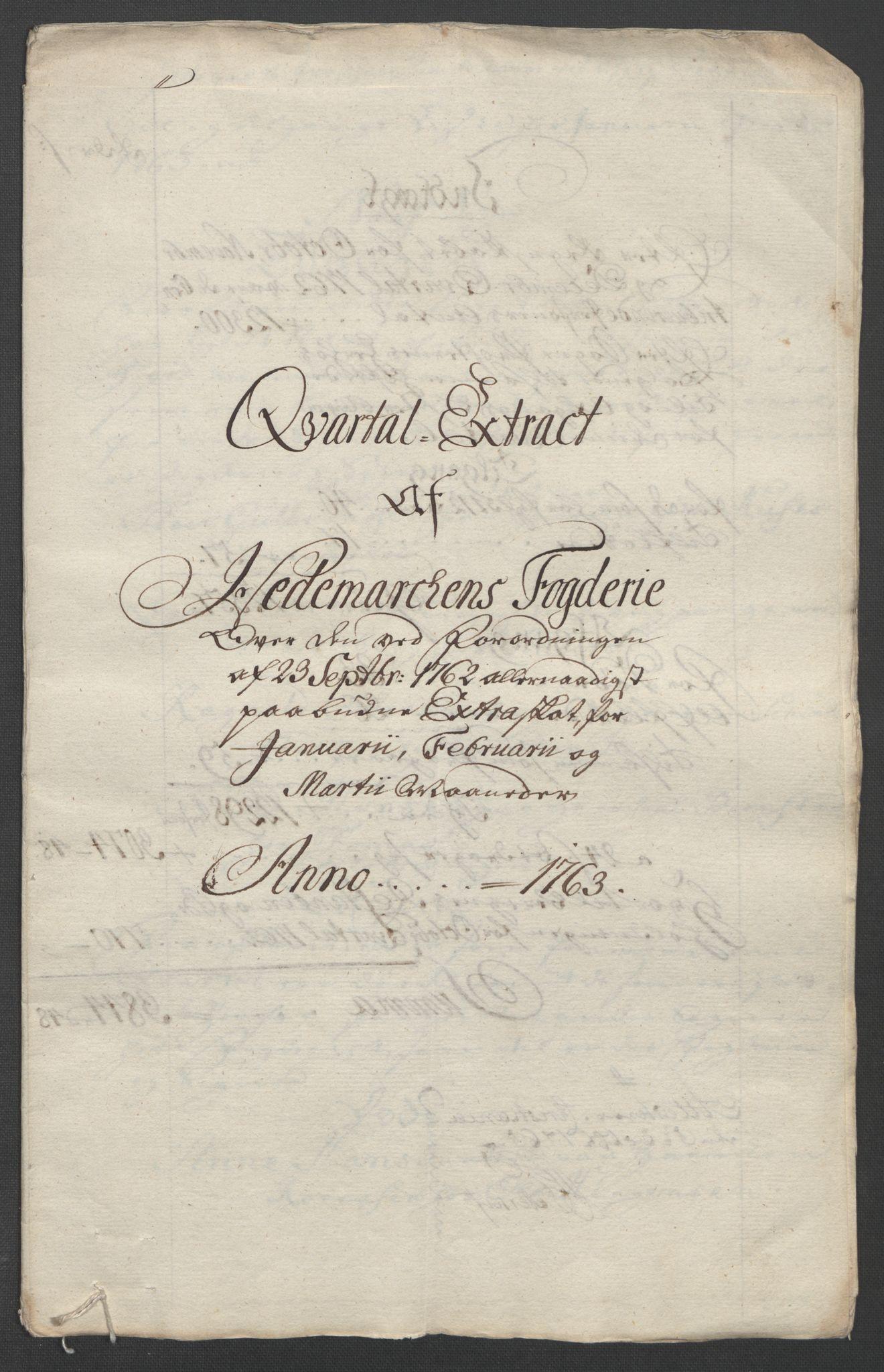 RA, Rentekammeret inntil 1814, Reviderte regnskaper, Fogderegnskap, R16/L1147: Ekstraskatten Hedmark, 1763-1764, s. 23