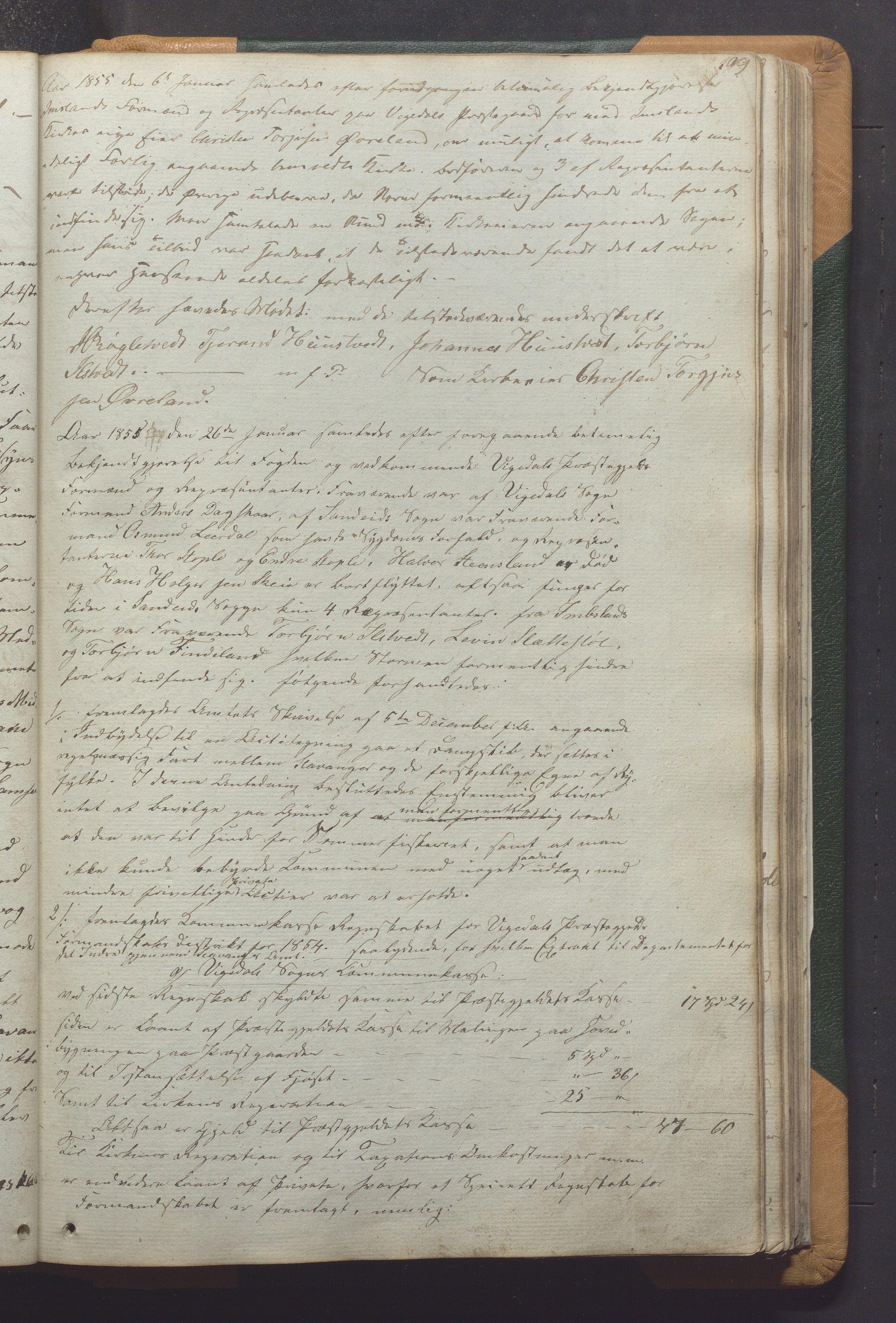 IKAR, Vikedal kommune - Formannskapet, Aaa/L0001: Møtebok, 1837-1874, s. 109a