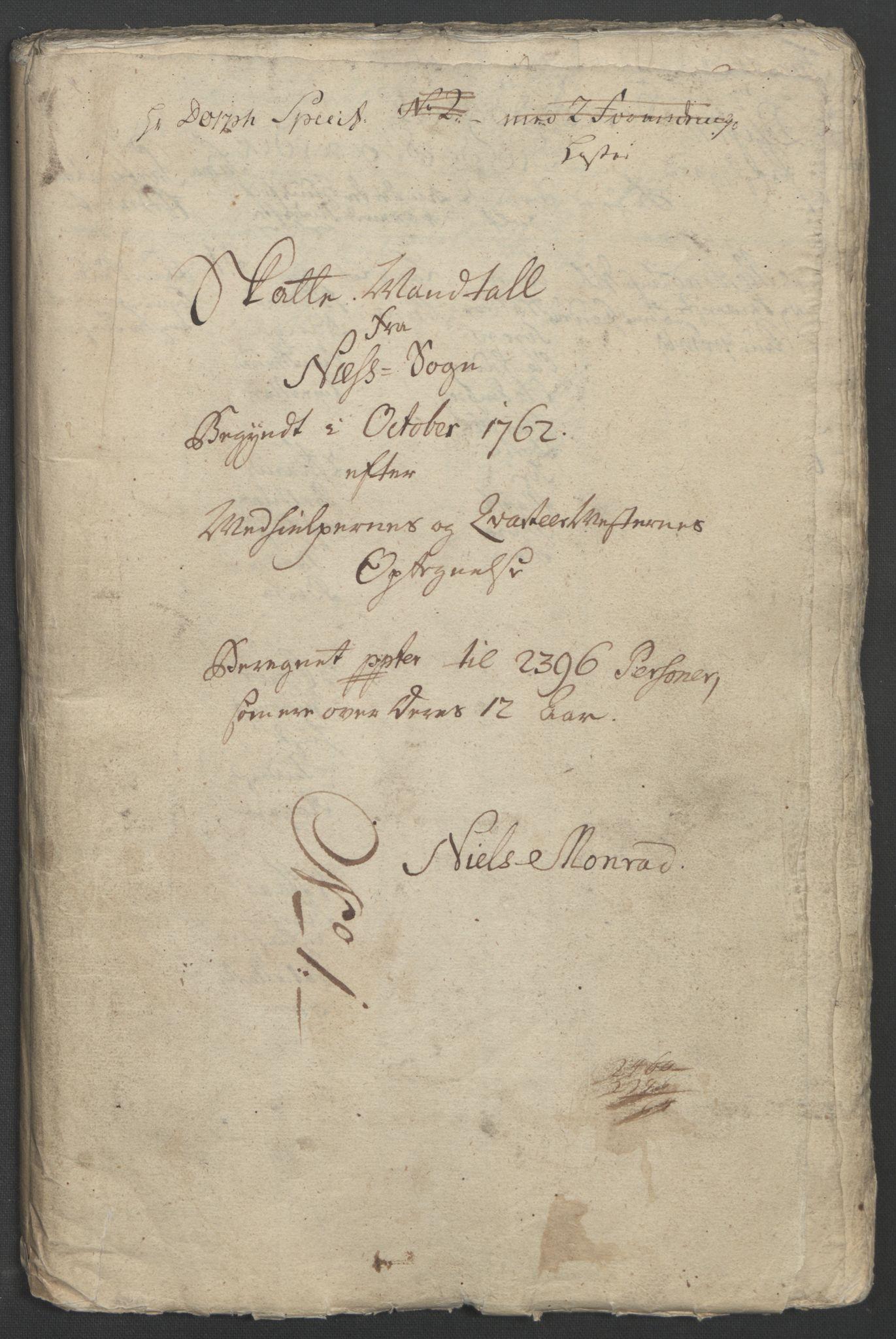 RA, Rentekammeret inntil 1814, Reviderte regnskaper, Fogderegnskap, R12/L0802: Ekstraskatten Øvre Romerike, 1762, s. 19
