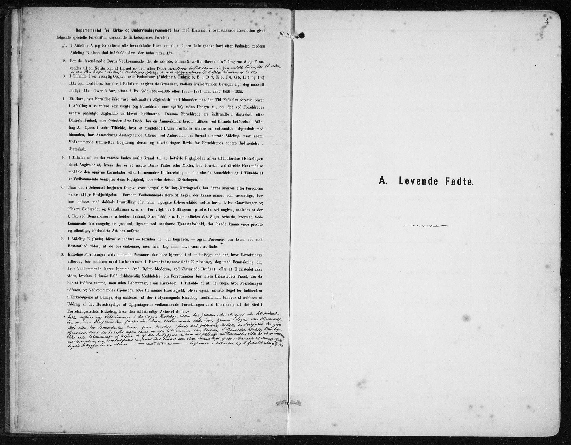 SAB, Etne Sokneprestembete, H/Haa: Ministerialbok nr. B  1, 1879-1919, s. 4