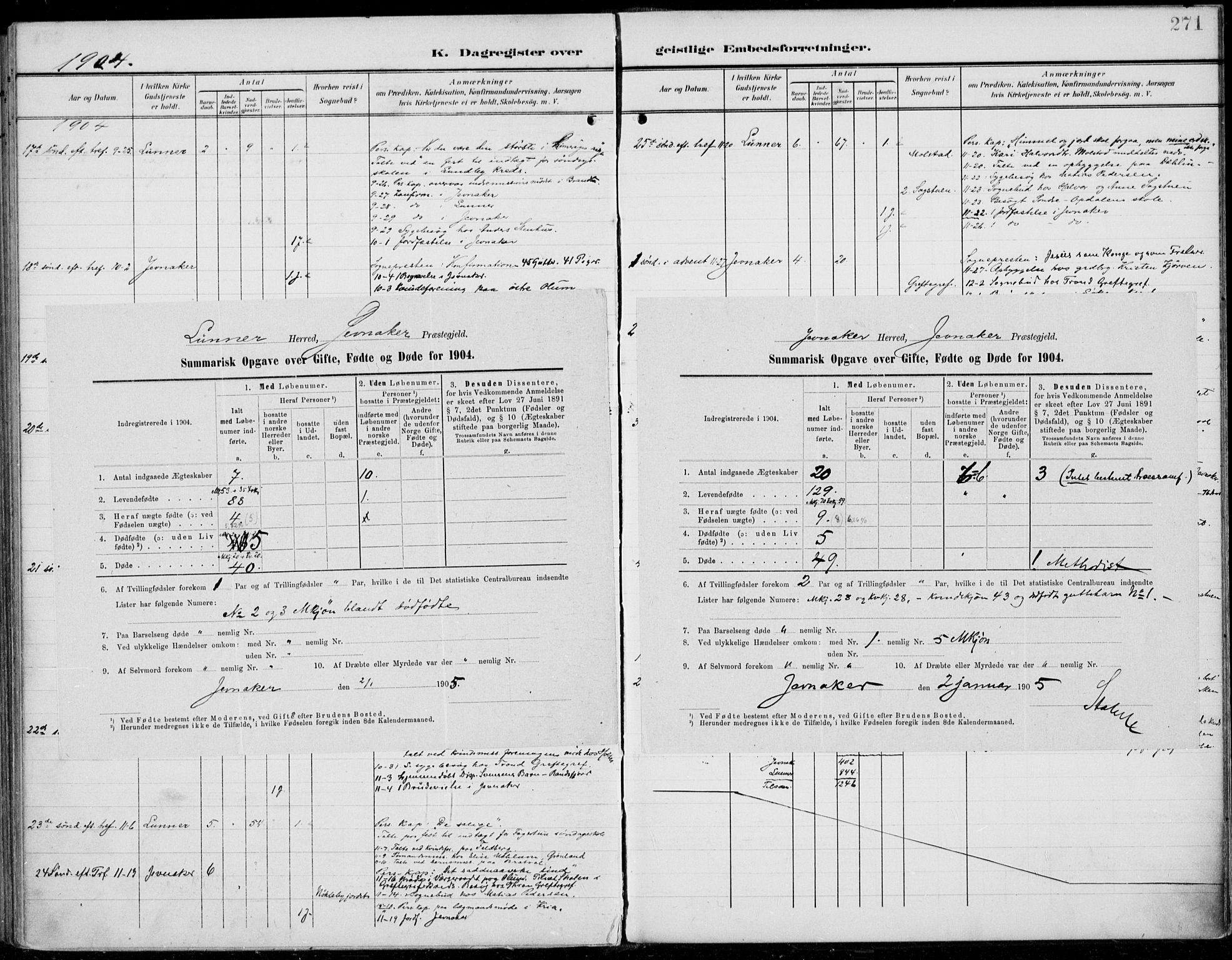 SAH, Jevnaker prestekontor, Ministerialbok nr. 11, 1902-1913, s. 271