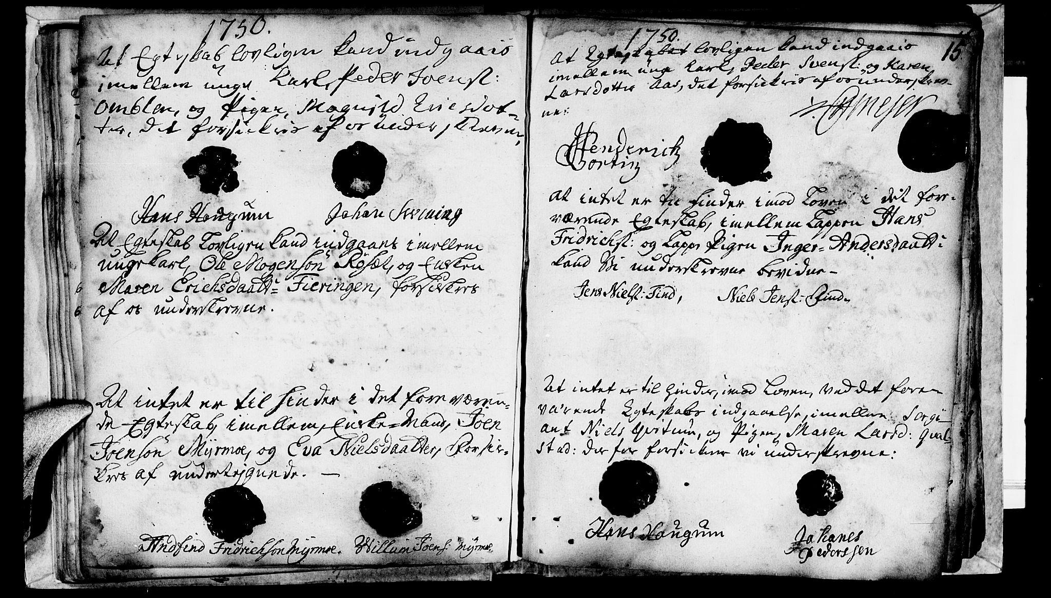 SAT, Ministerialprotokoller, klokkerbøker og fødselsregistre - Nord-Trøndelag, 764/L0541: Ministerialbok nr. 764A01, 1745-1758, s. 15