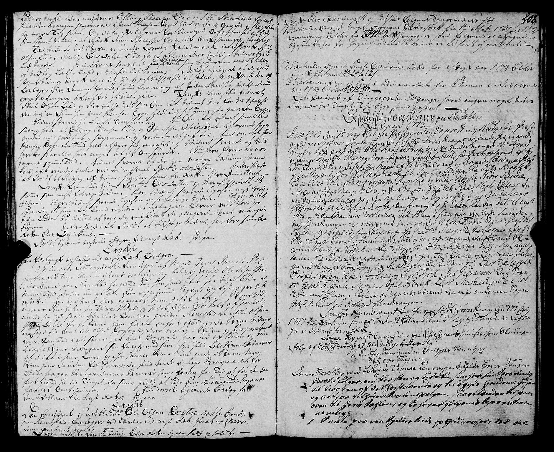 SAT, Sunnmøre sorenskriveri, 1/1A/L0040: Tingbok 35A, 1771-1774, s. 207b-208a