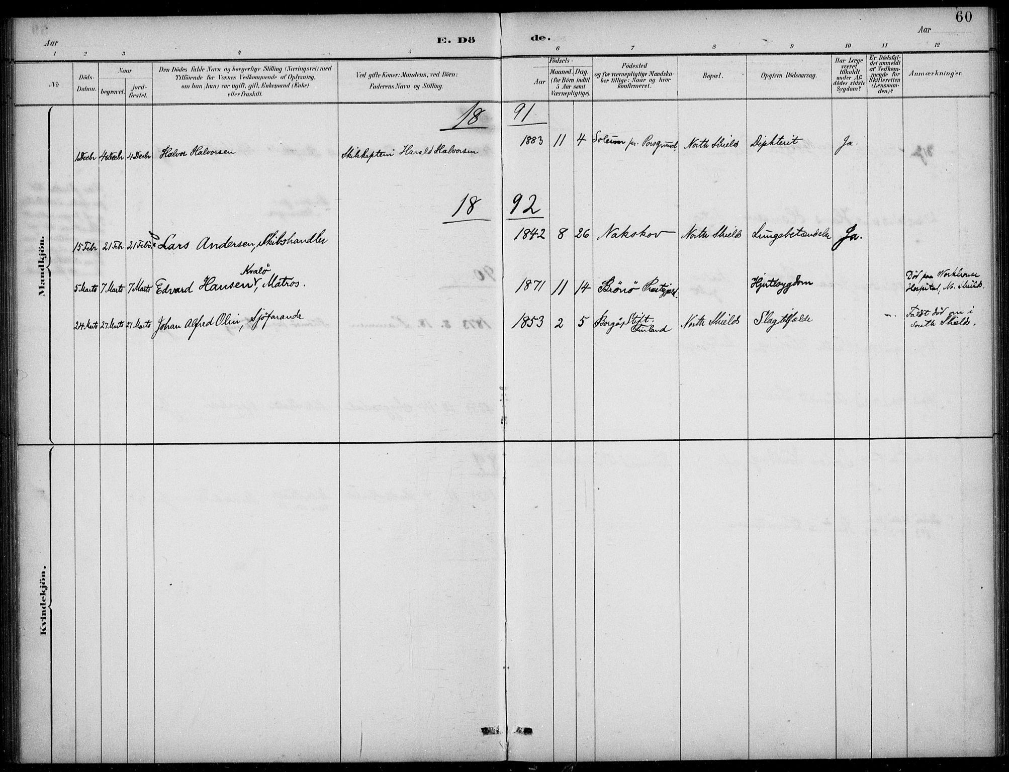 SAB, Den Norske Sjømannsmisjon i utlandet*, Ministerialbok nr. A 2, 1883-1936, s. 60