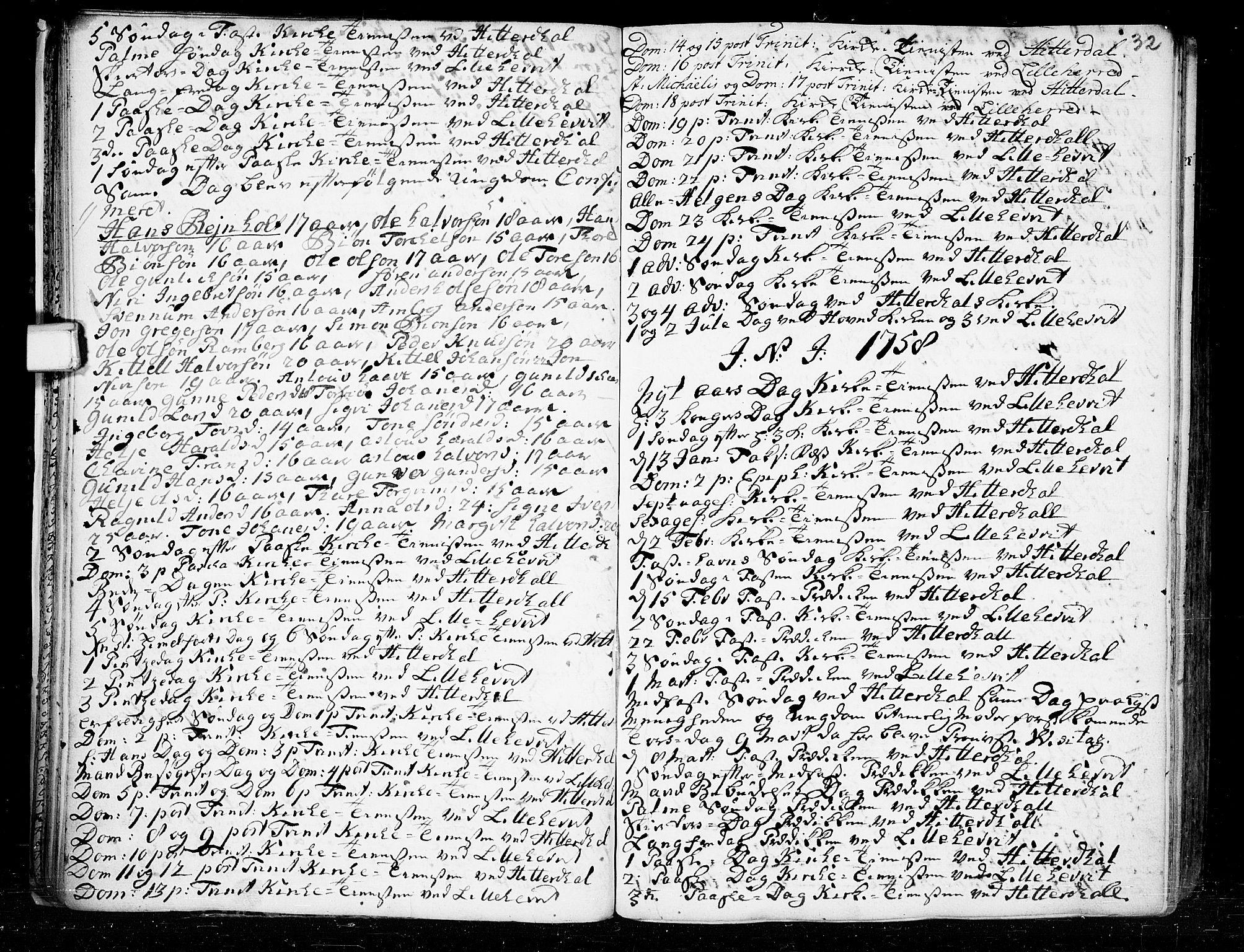 SAKO, Heddal kirkebøker, F/Fa/L0003: Ministerialbok nr. I 3, 1723-1783, s. 32