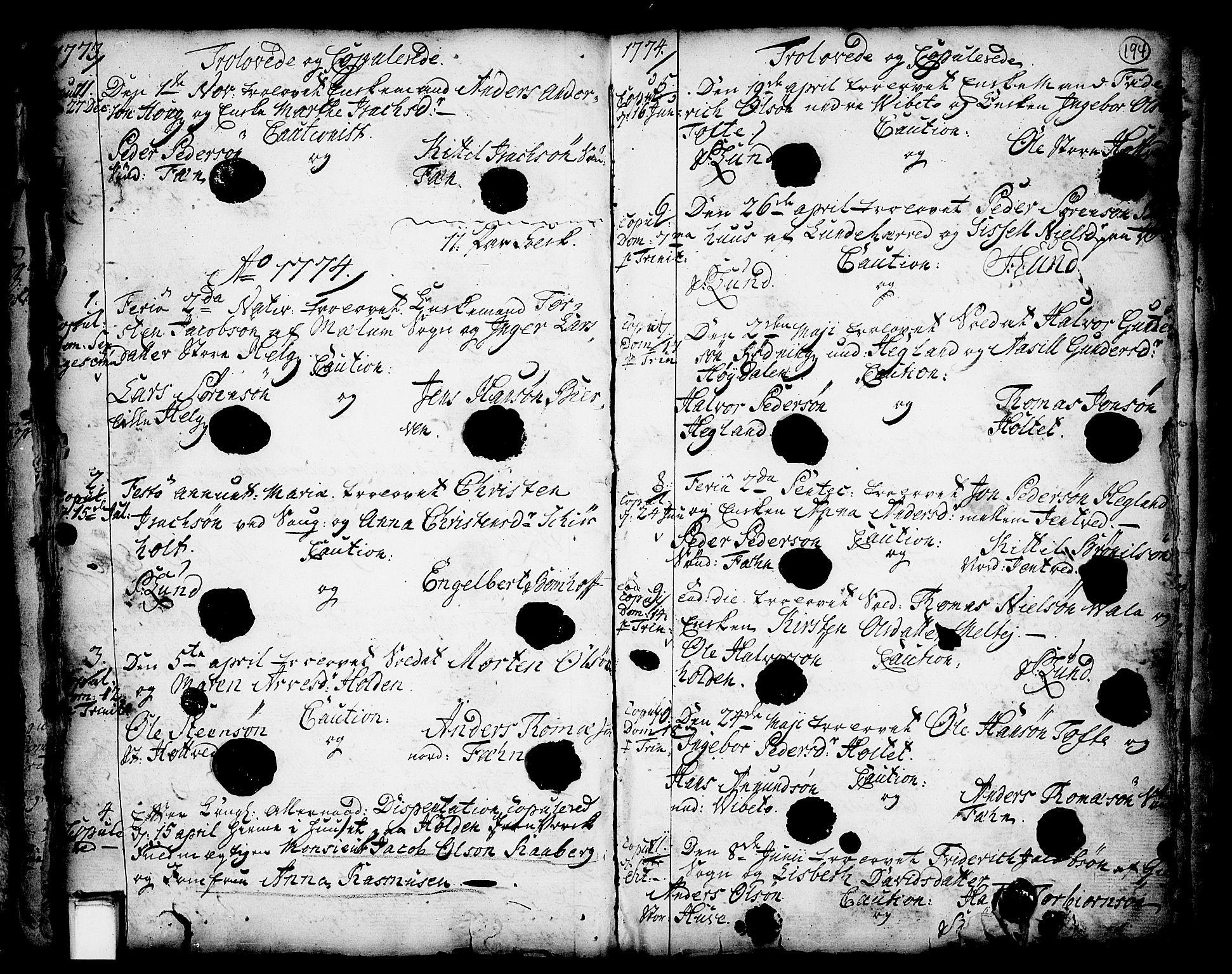 SAKO, Holla kirkebøker, F/Fa/L0001: Ministerialbok nr. 1, 1717-1779, s. 194