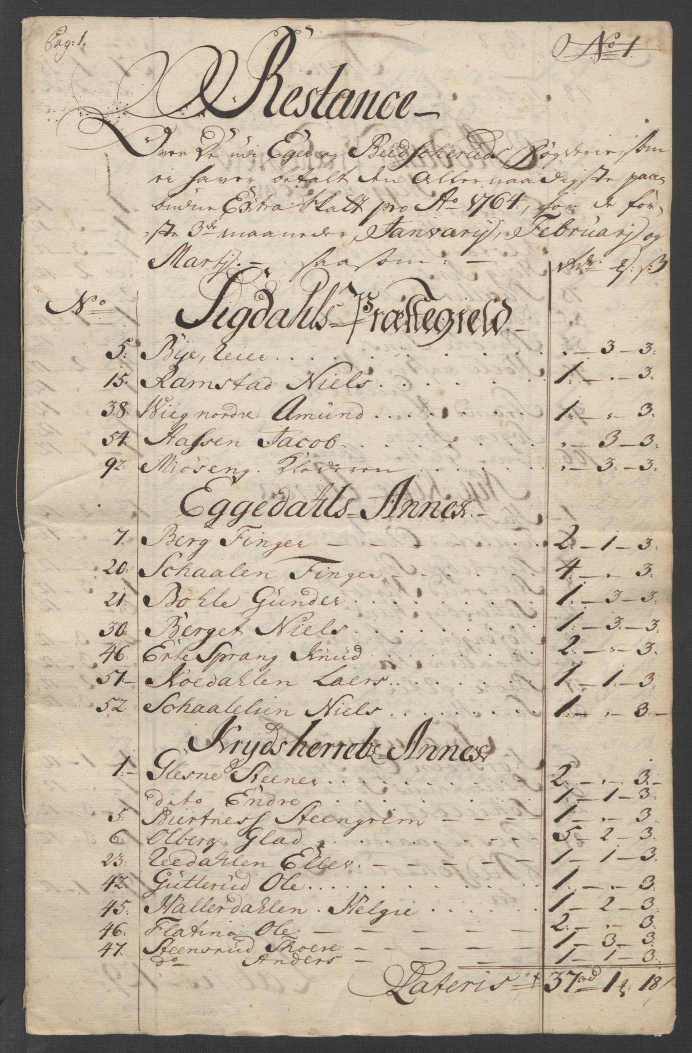 RA, Rentekammeret inntil 1814, Reviderte regnskaper, Fogderegnskap, R31/L1833: Ekstraskatten Hurum, Røyken, Eiker, Lier og Buskerud, 1762-1764, s. 239