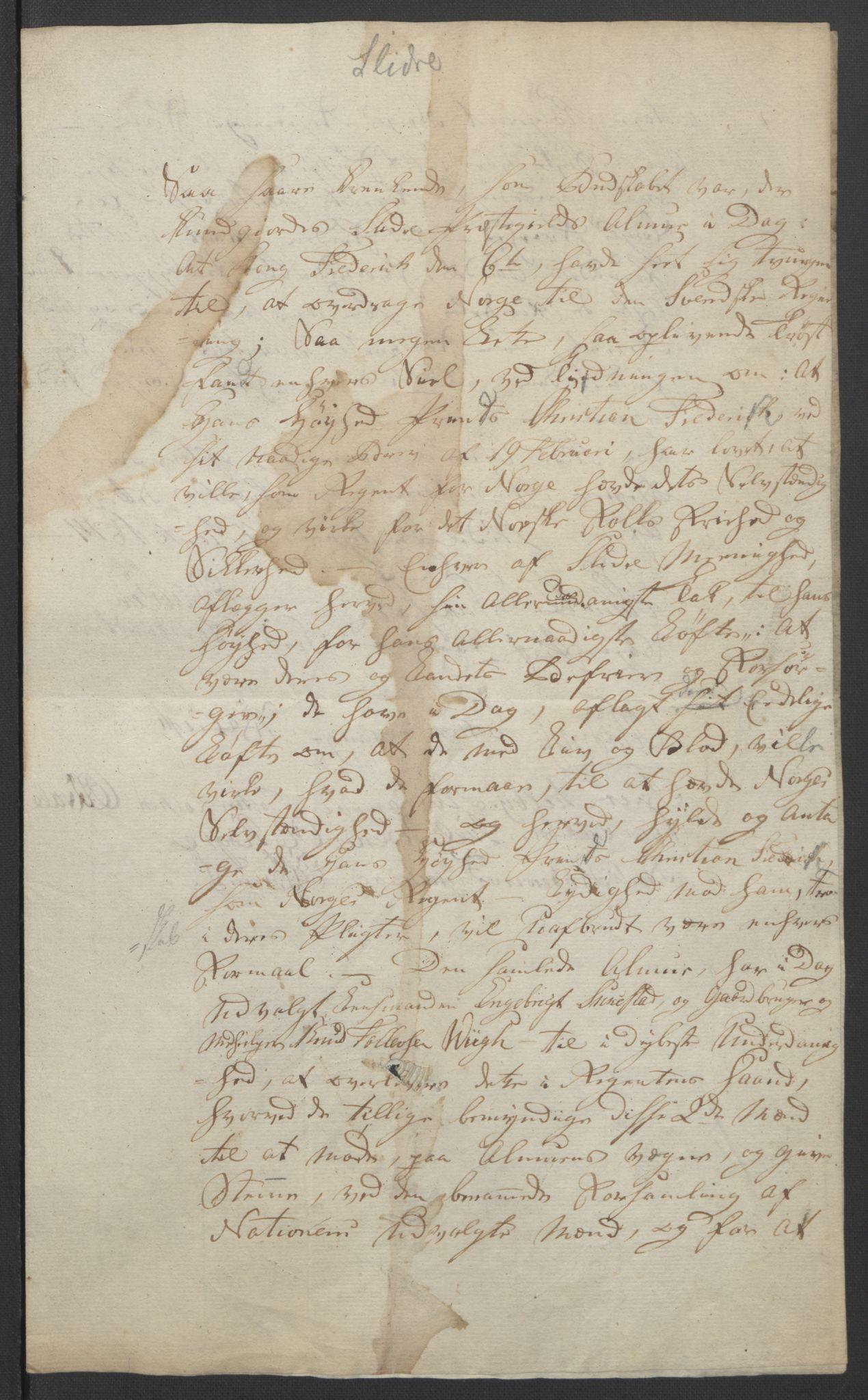 RA, Statsrådssekretariatet, D/Db/L0007: Fullmakter for Eidsvollsrepresentantene i 1814. , 1814, s. 281