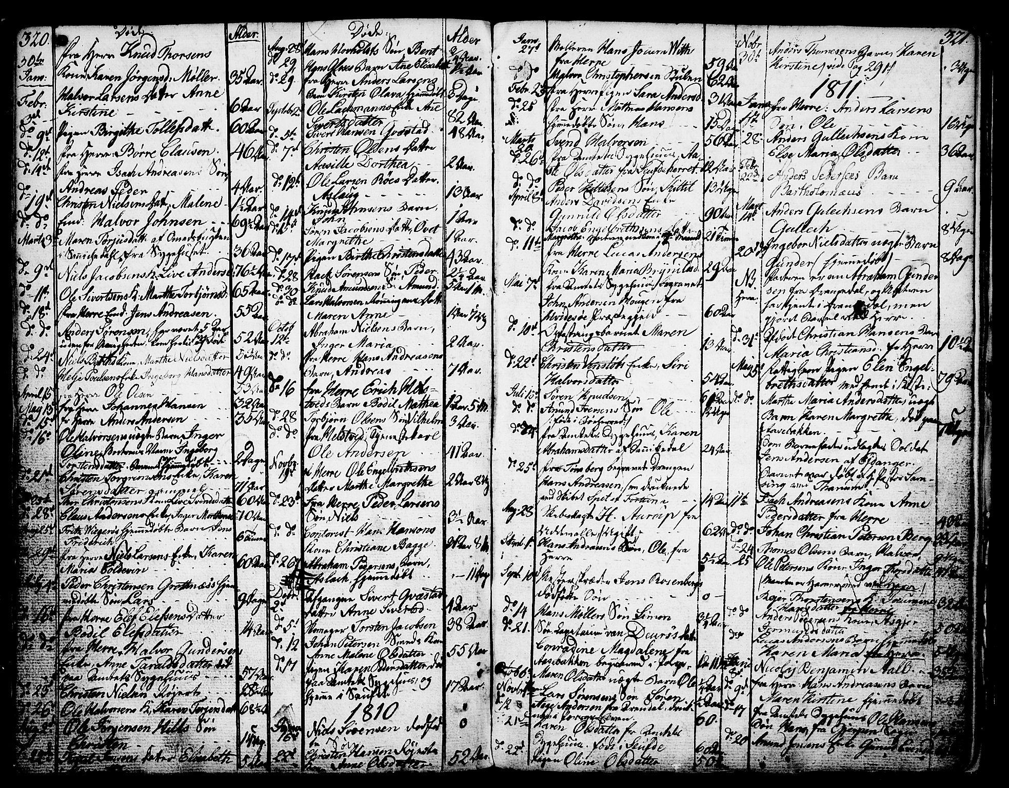 SAKO, Porsgrunn kirkebøker , F/Fa/L0002: Ministerialbok nr. 2, 1764-1814, s. 320-321