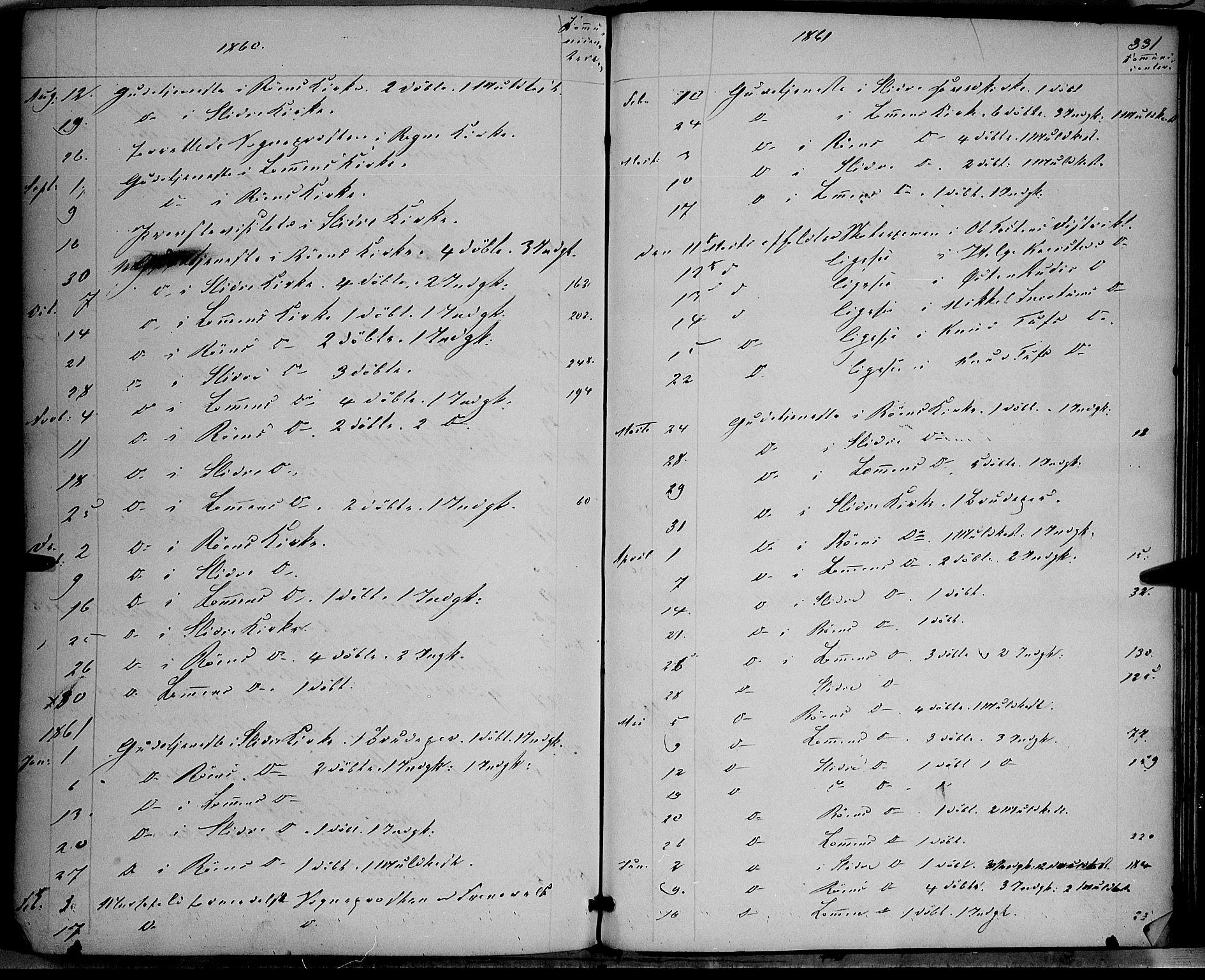 SAH, Vestre Slidre prestekontor, Ministerialbok nr. 2, 1856-1864, s. 331