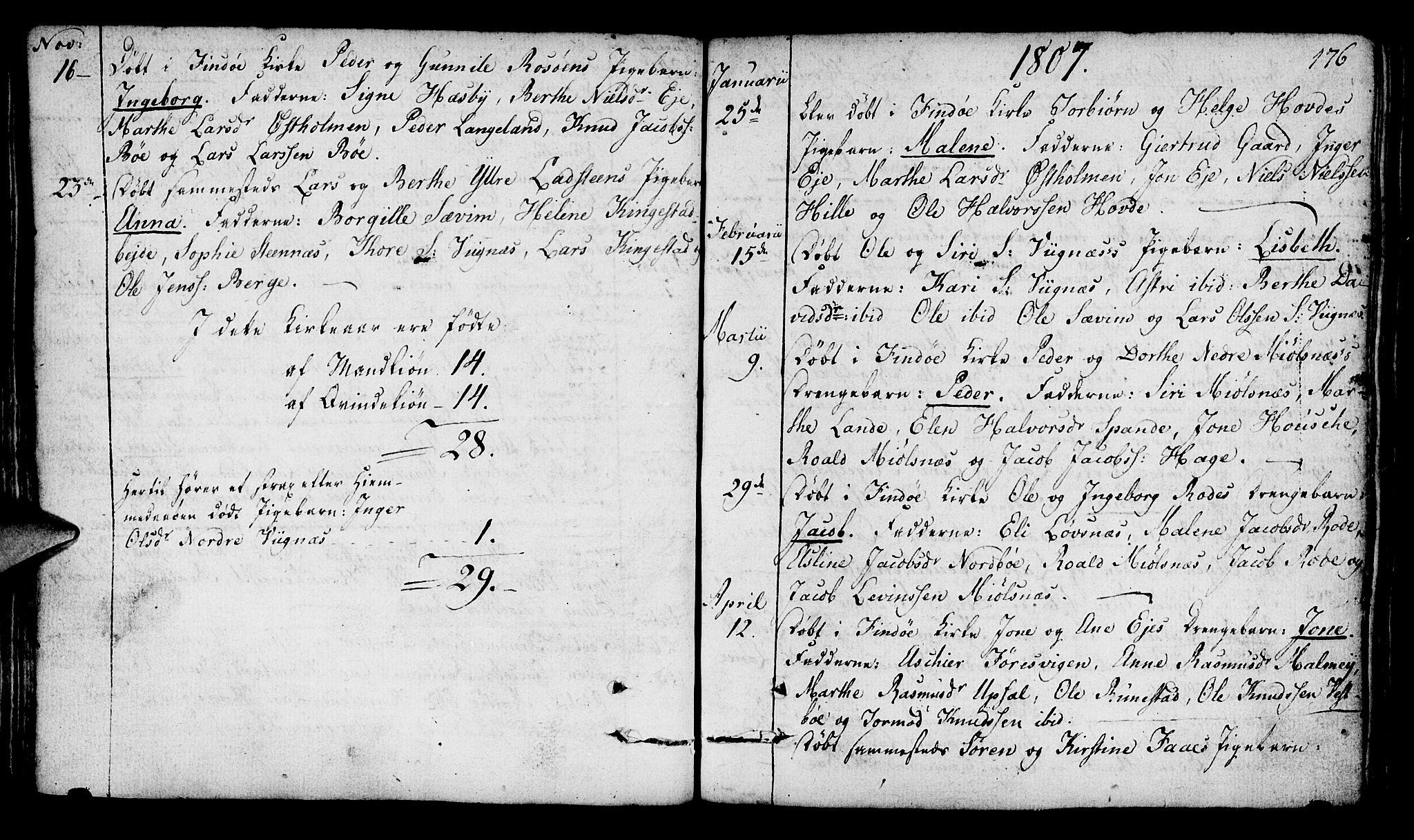SAST, Finnøy sokneprestkontor, H/Ha/Haa/L0005: Ministerialbok nr. A 5, 1773-1816, s. 176