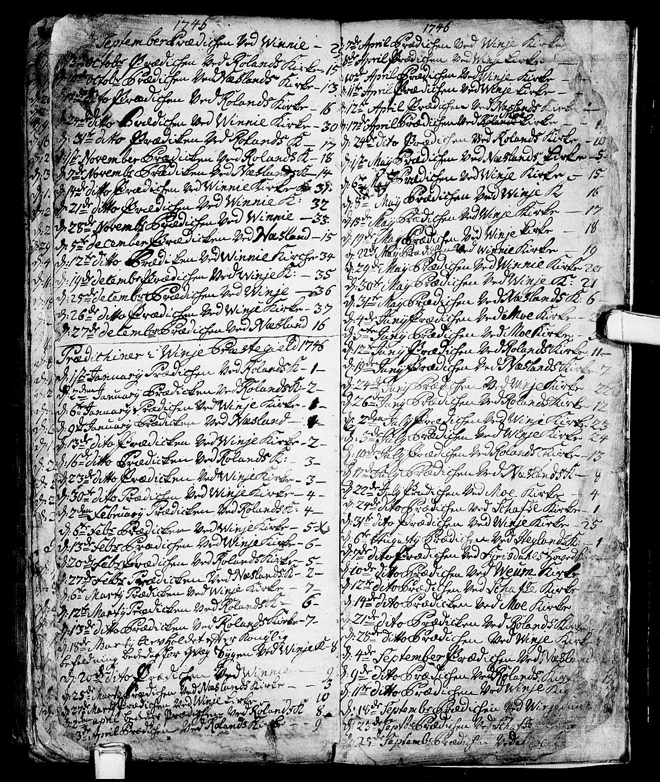 SAKO, Vinje kirkebøker, F/Fa/L0001: Ministerialbok nr. I 1, 1717-1766, s. 260