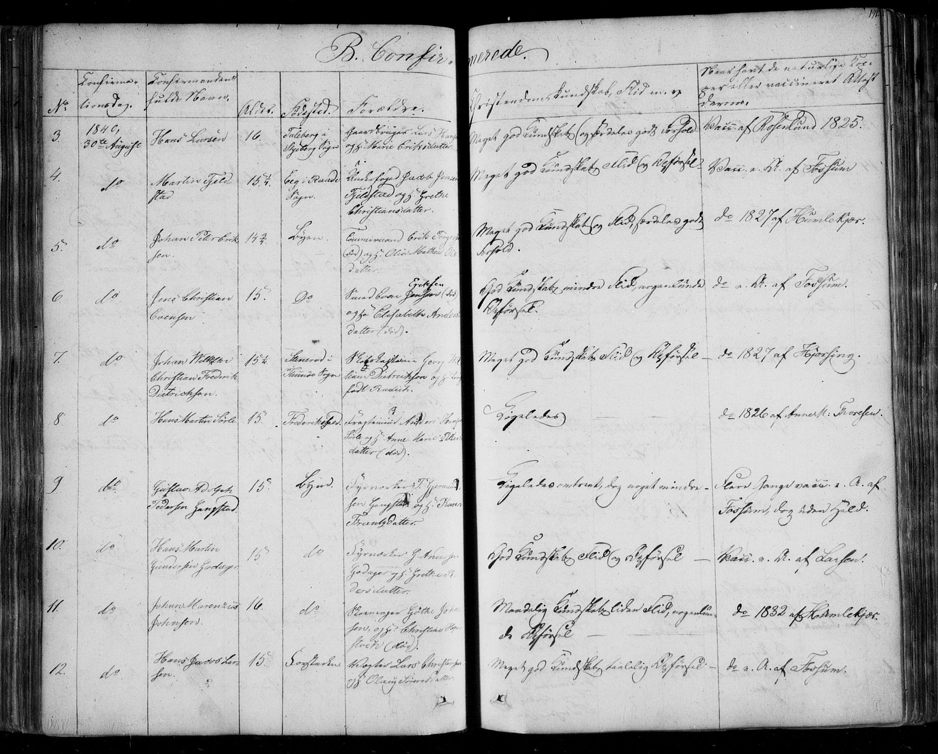 SAO, Fredrikstad prestekontor Kirkebøker, F/Fa/L0005: Ministerialbok nr. 5, 1835-1856, s. 197