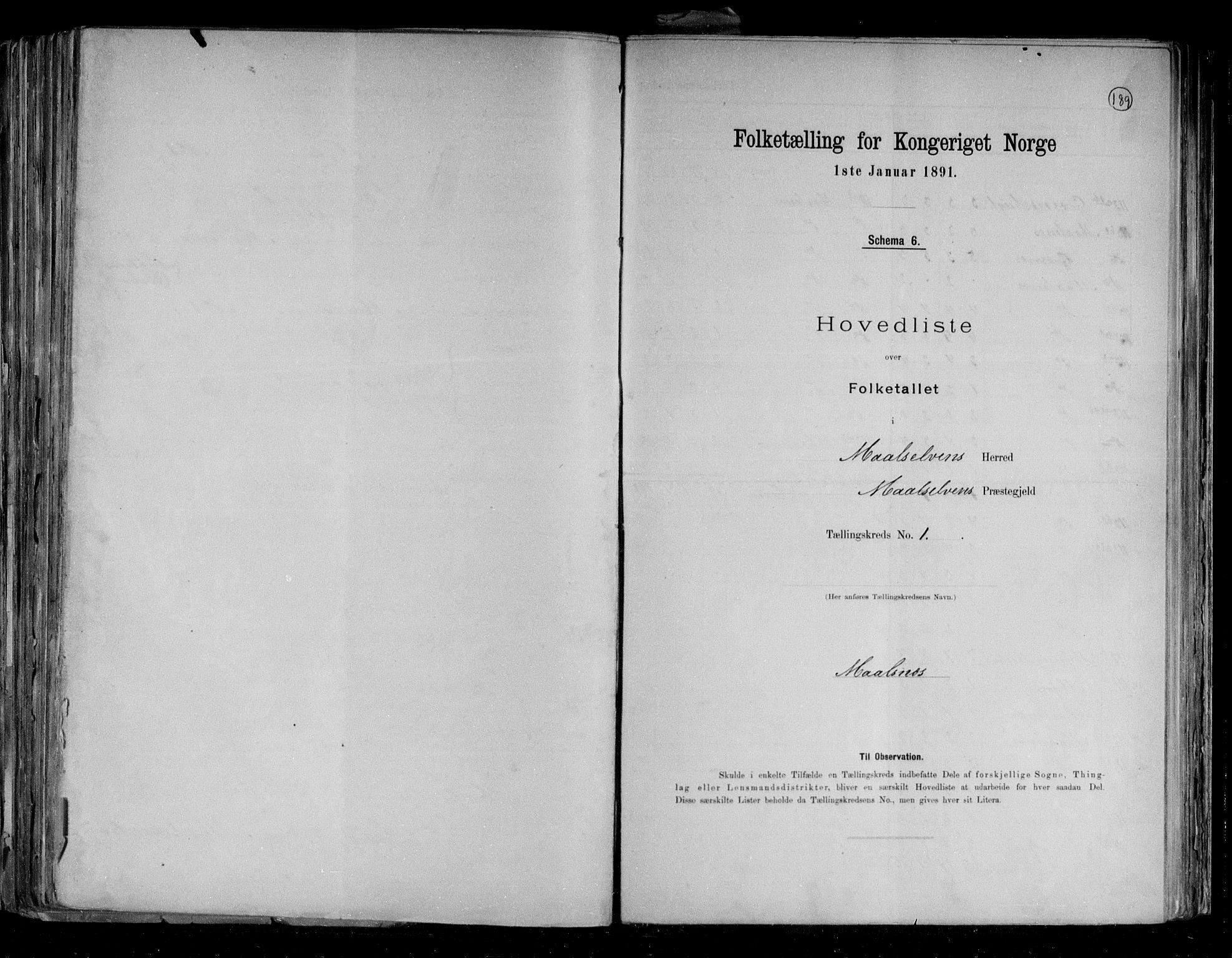 RA, Folketelling 1891 for 1924 Målselv herred, 1891, s. 4