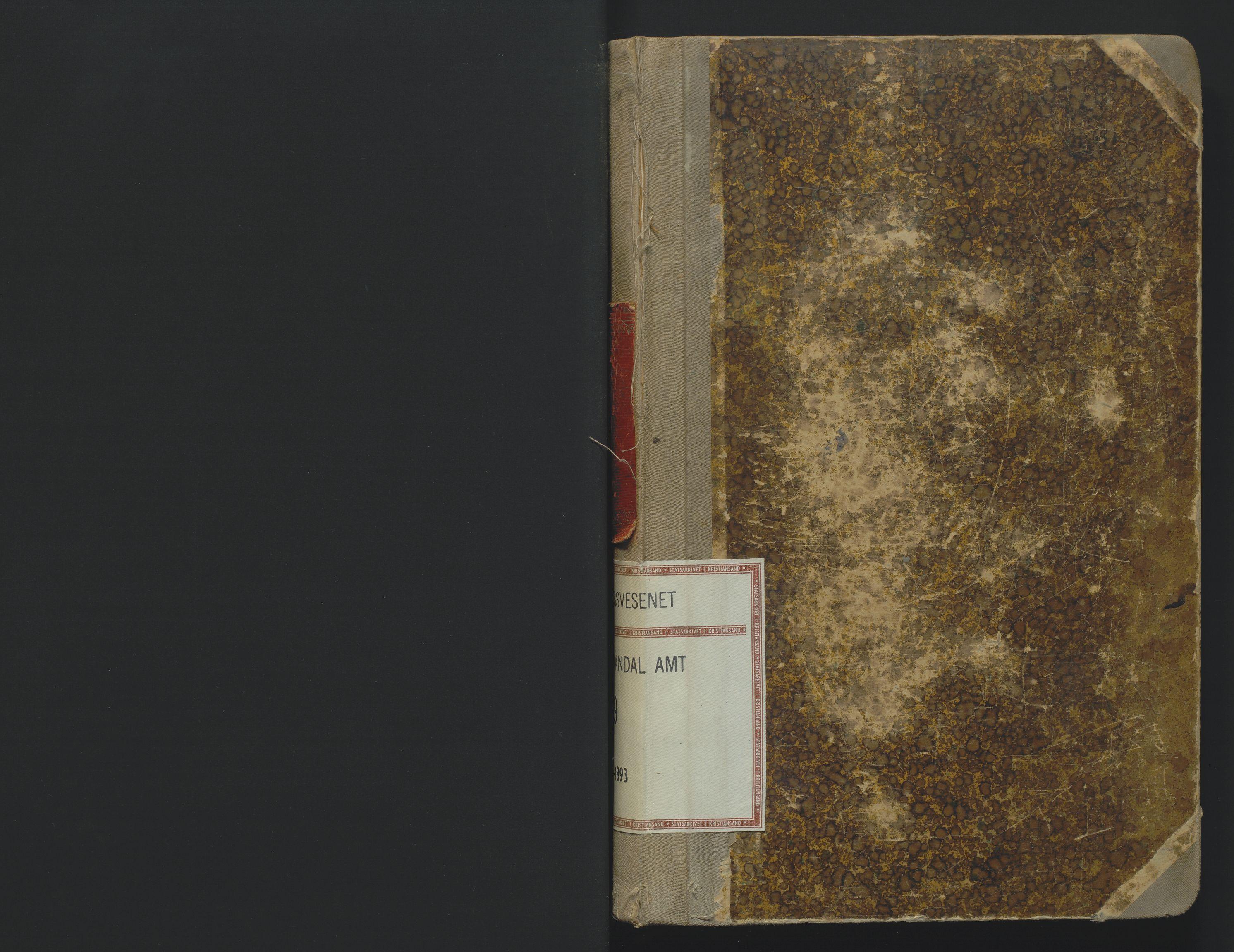SAK, Utskiftningsformannen i Lister og Mandal amt, F/Fa/Faa/L0019: Utskiftningsprotokoll med register nr 19, 1891-1893