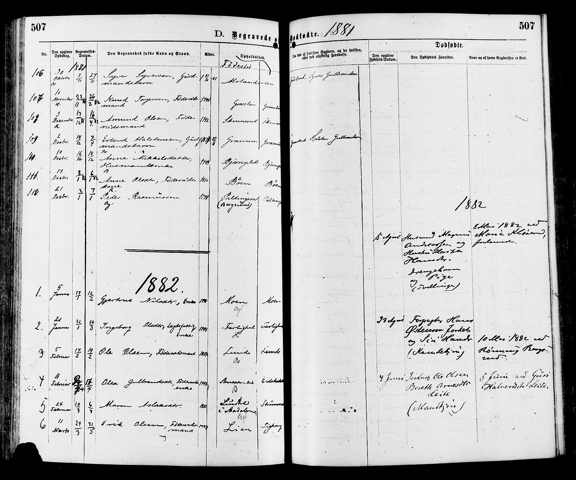 SAH, Sør-Aurdal prestekontor, Ministerialbok nr. 8, 1877-1885, s. 507