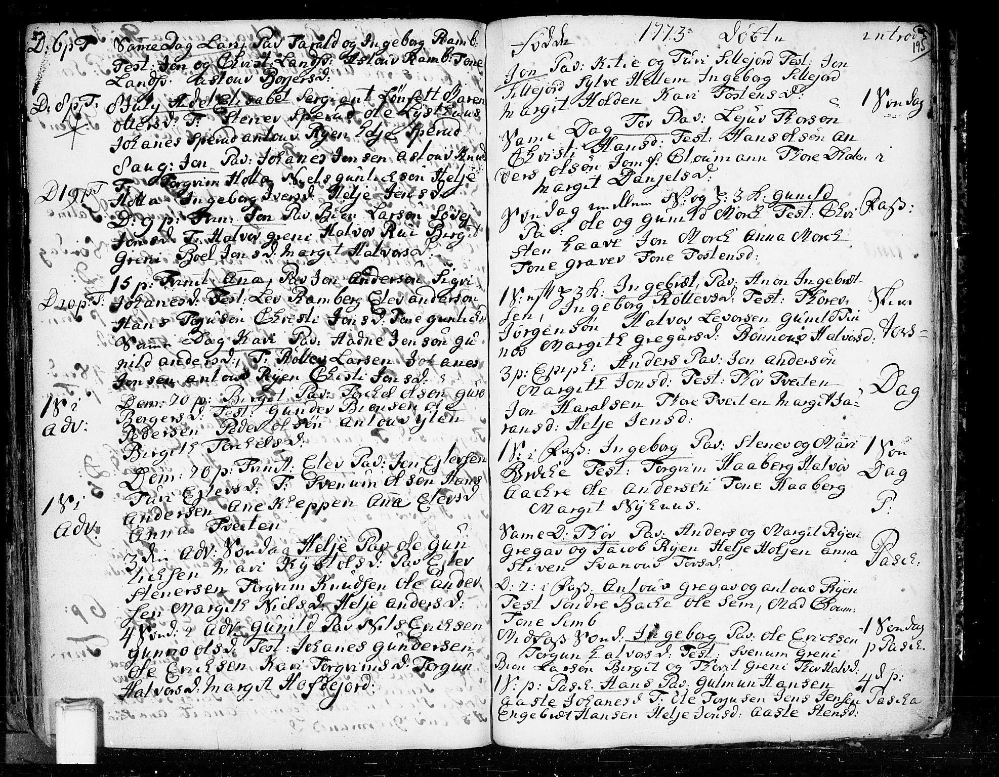 SAKO, Heddal kirkebøker, F/Fa/L0003: Ministerialbok nr. I 3, 1723-1783, s. 195