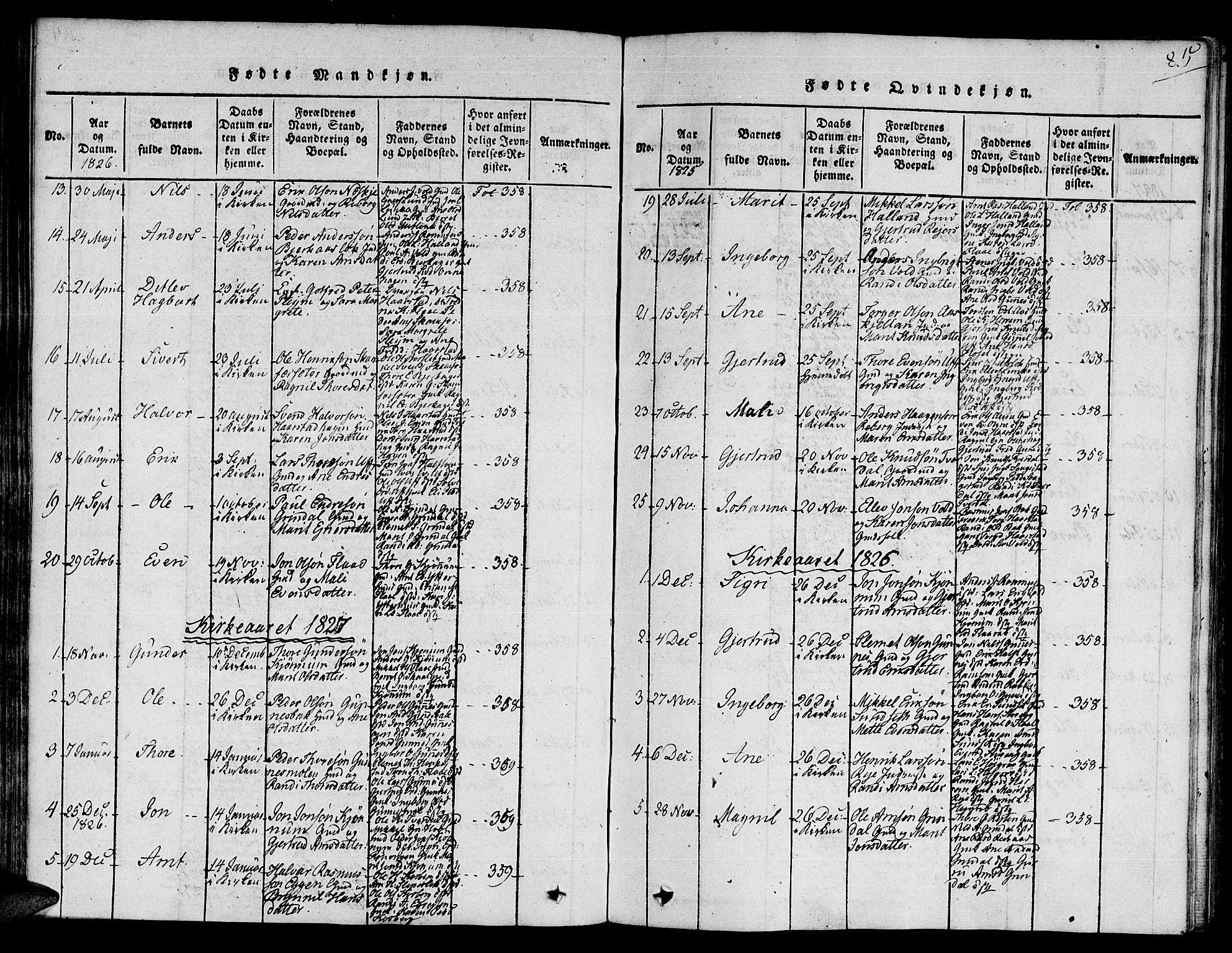 SAT, Ministerialprotokoller, klokkerbøker og fødselsregistre - Sør-Trøndelag, 672/L0854: Ministerialbok nr. 672A06 /2, 1816-1829, s. 85