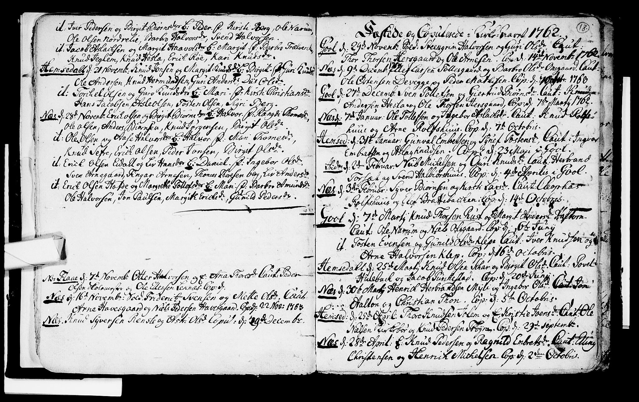 SAKO, Nes kirkebøker, F/Fa/L0003: Ministerialbok nr. 3, 1760-1764, s. 18