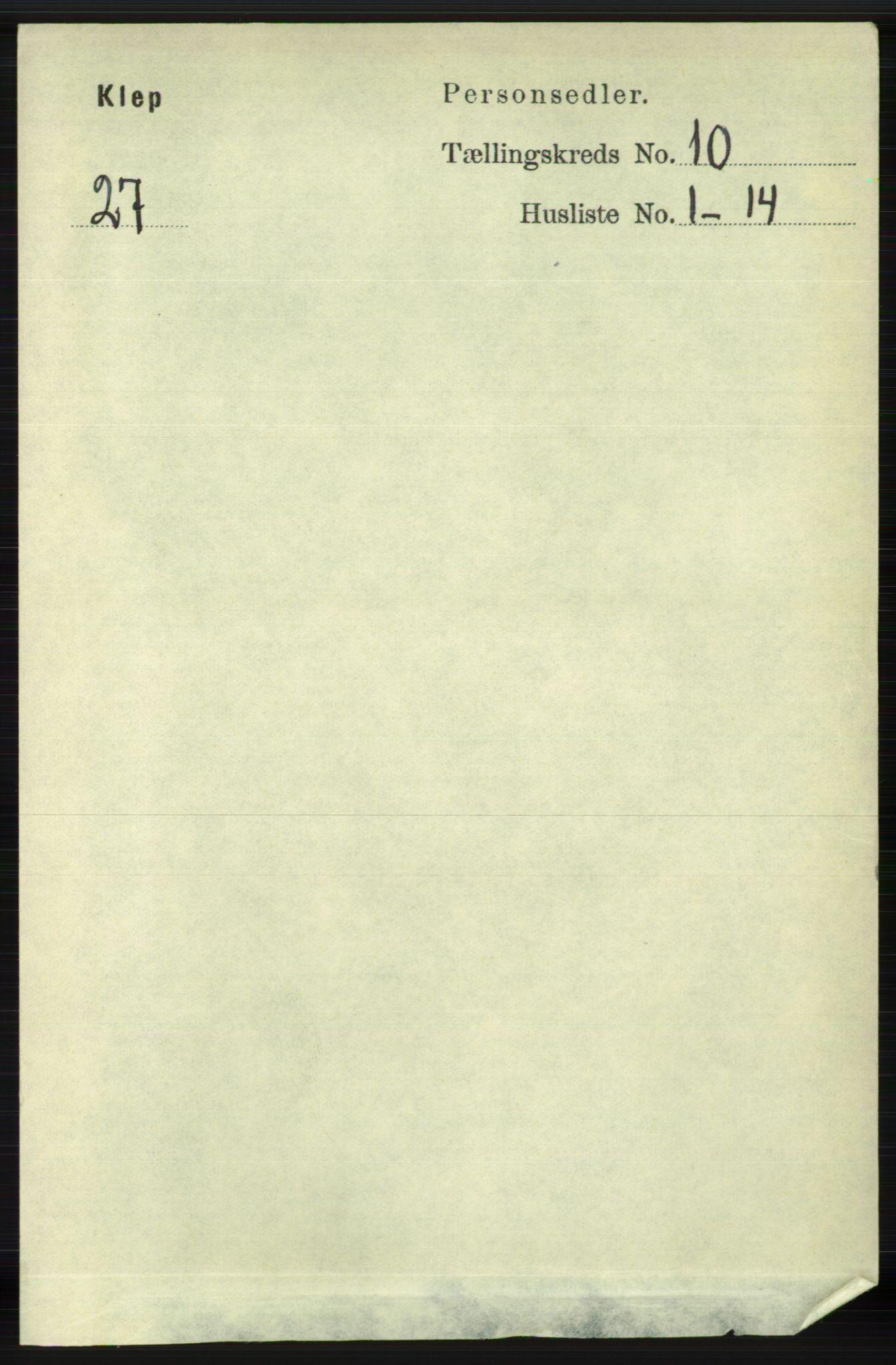 RA, Folketelling 1891 for 1120 Klepp herred, 1891, s. 2851