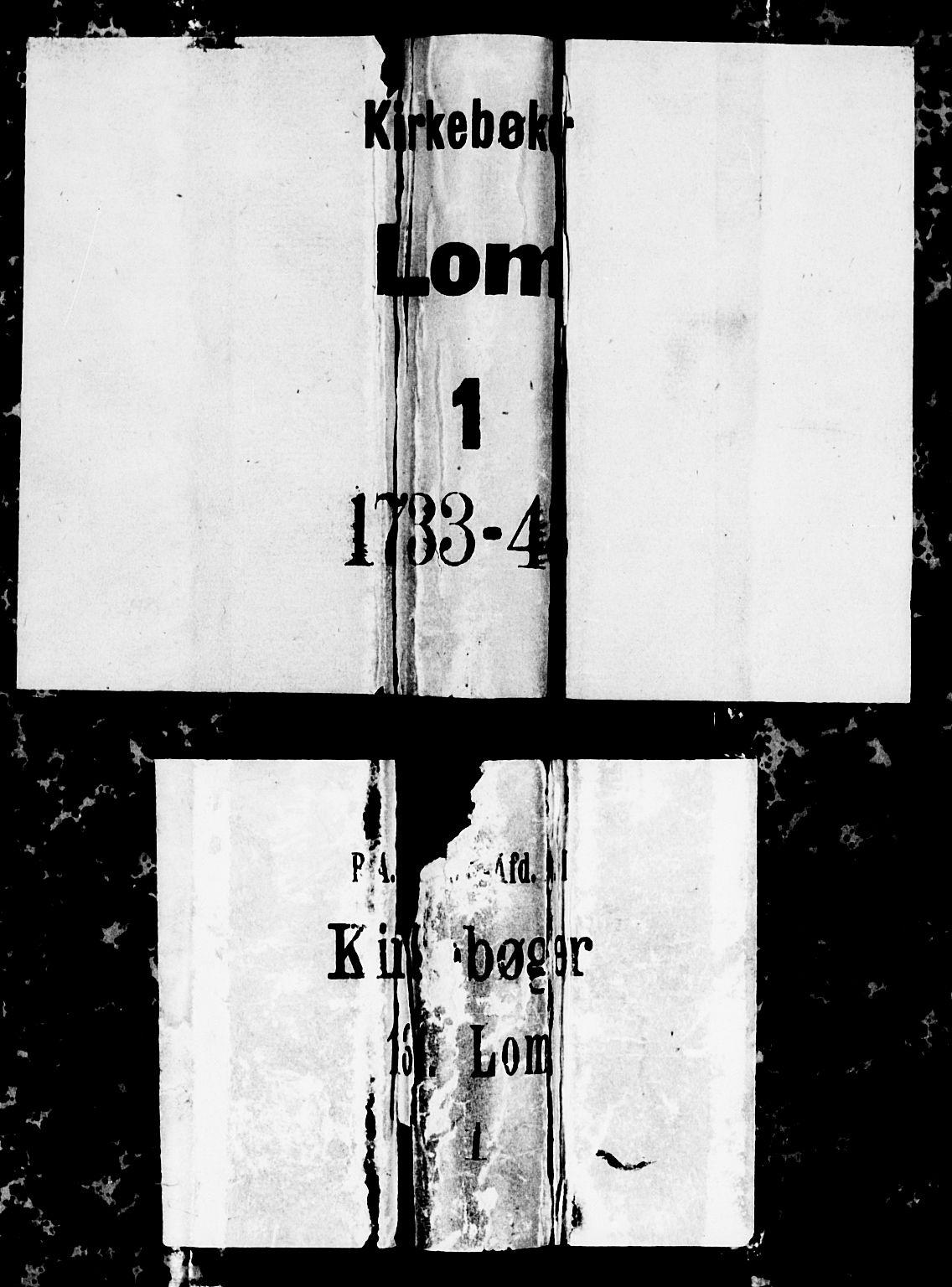 SAH, Lom prestekontor, K/L0001: Ministerialbok nr. 1, 1733-1748