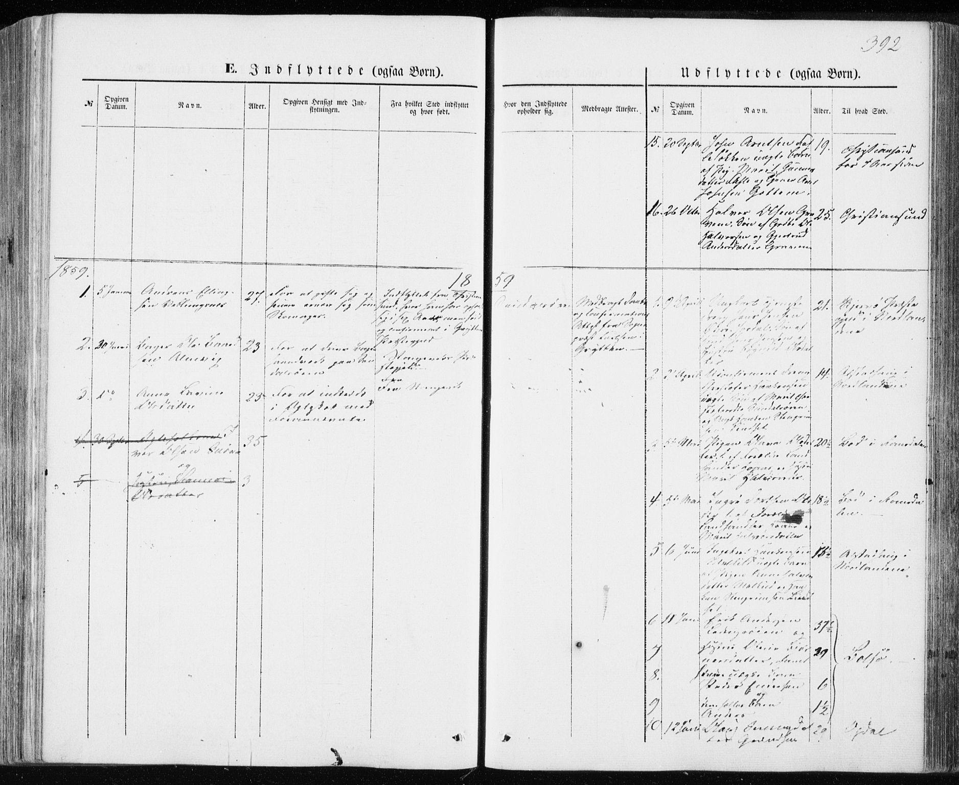 SAT, Ministerialprotokoller, klokkerbøker og fødselsregistre - Møre og Romsdal, 590/L1013: Ministerialbok nr. 590A05, 1847-1877, s. 392