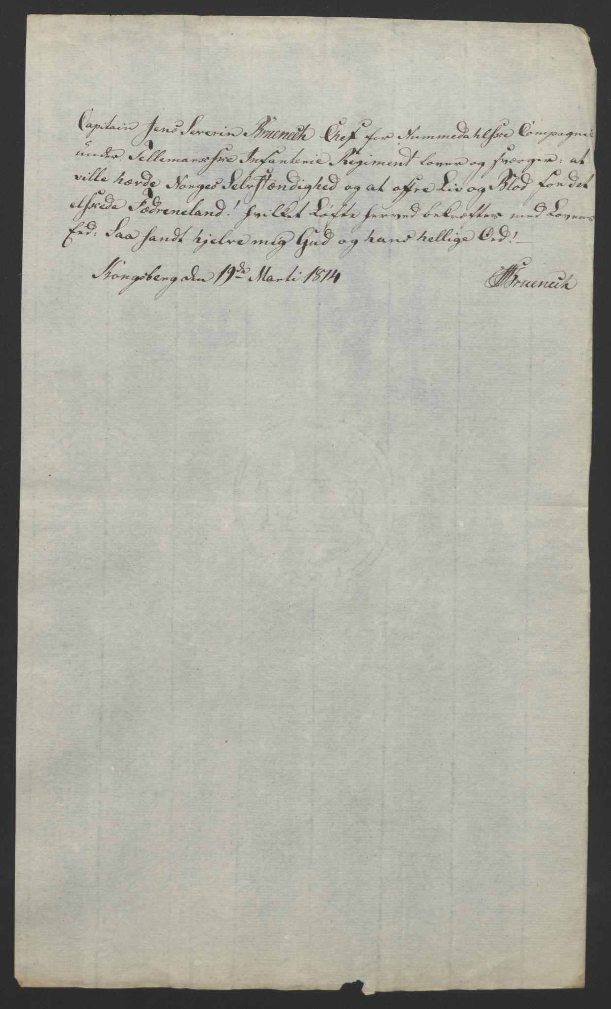 RA, Statsrådssekretariatet, D/Db/L0007: Fullmakter for Eidsvollsrepresentantene i 1814. , 1814, s. 96