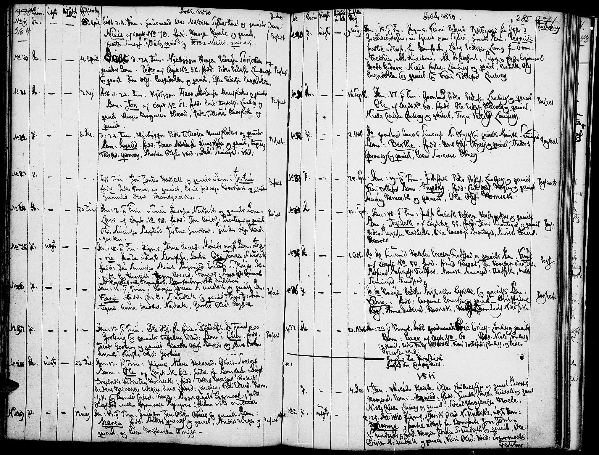 SAH, Rendalen prestekontor, H/Ha/Haa/L0002: Ministerialbok nr. 2, 1788-1814, s. 284-285
