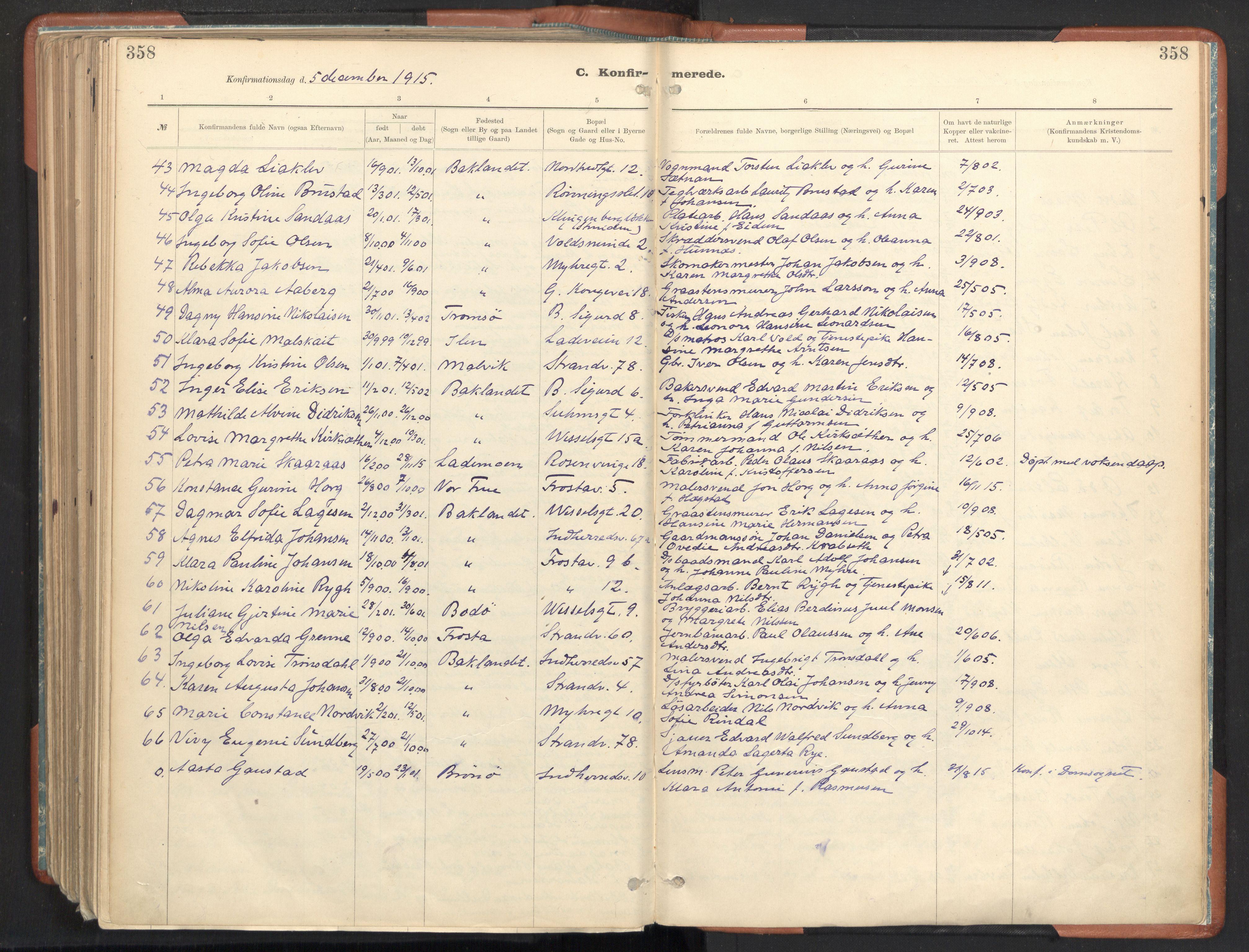 SAT, Ministerialprotokoller, klokkerbøker og fødselsregistre - Sør-Trøndelag, 605/L0243: Ministerialbok nr. 605A05, 1908-1923, s. 358