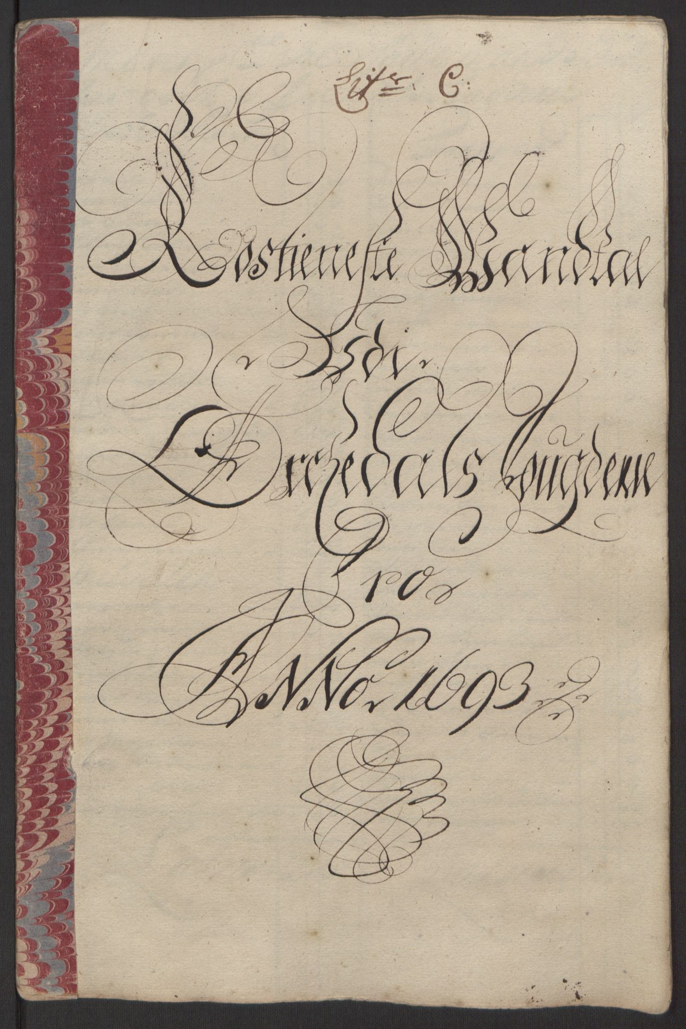 RA, Rentekammeret inntil 1814, Reviderte regnskaper, Fogderegnskap, R58/L3938: Fogderegnskap Orkdal, 1693, s. 95